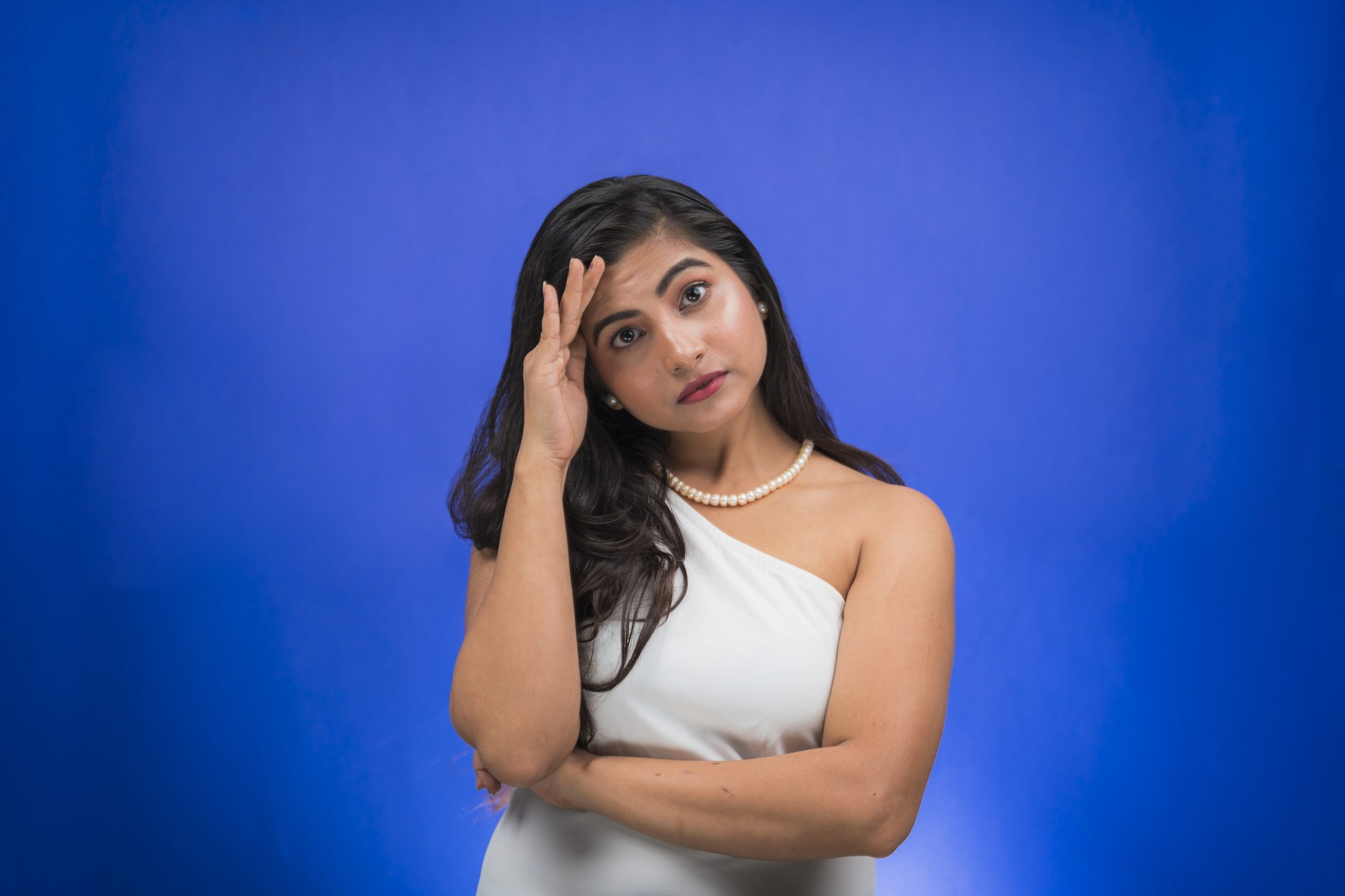 Stressed Indian girl