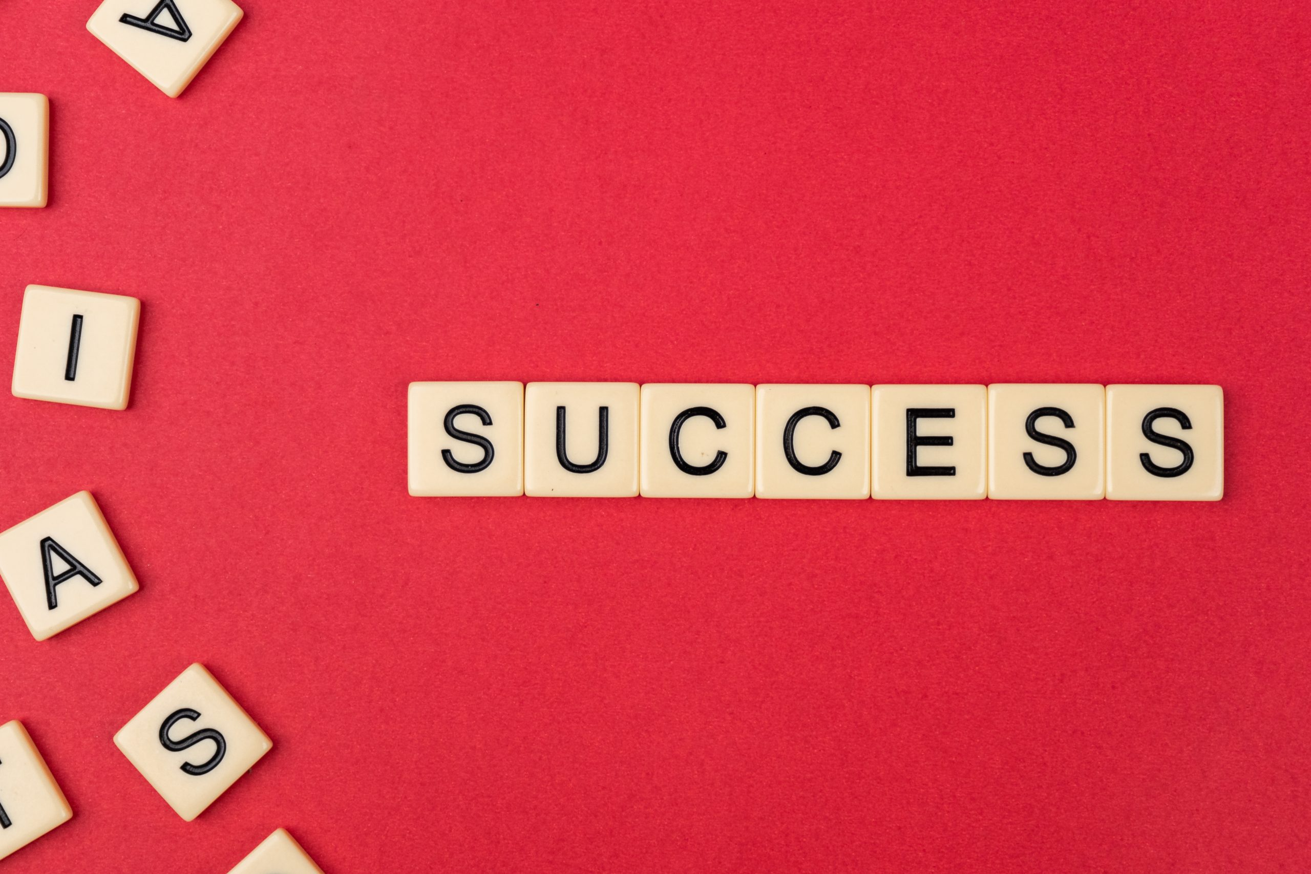 Success written with scrabble