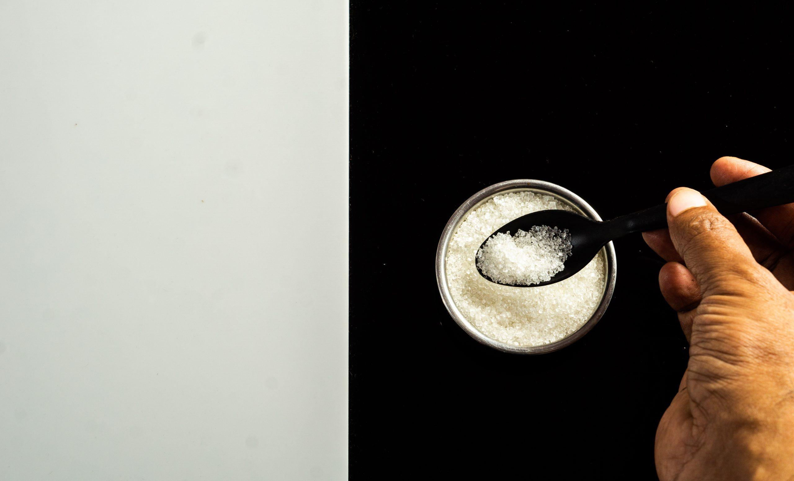 Sugar and teaspoon.