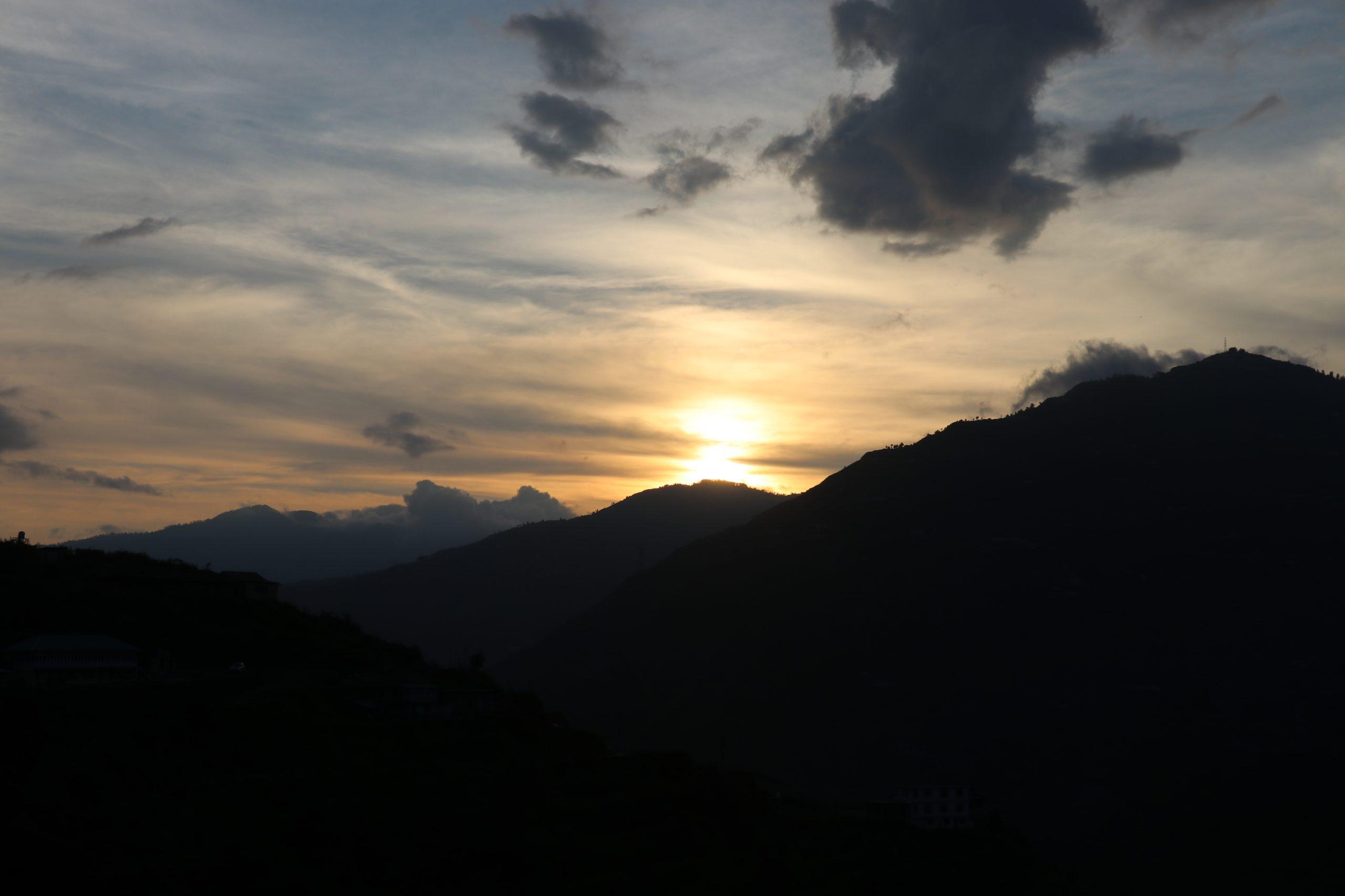 Sunrise Scenery on a Mountain