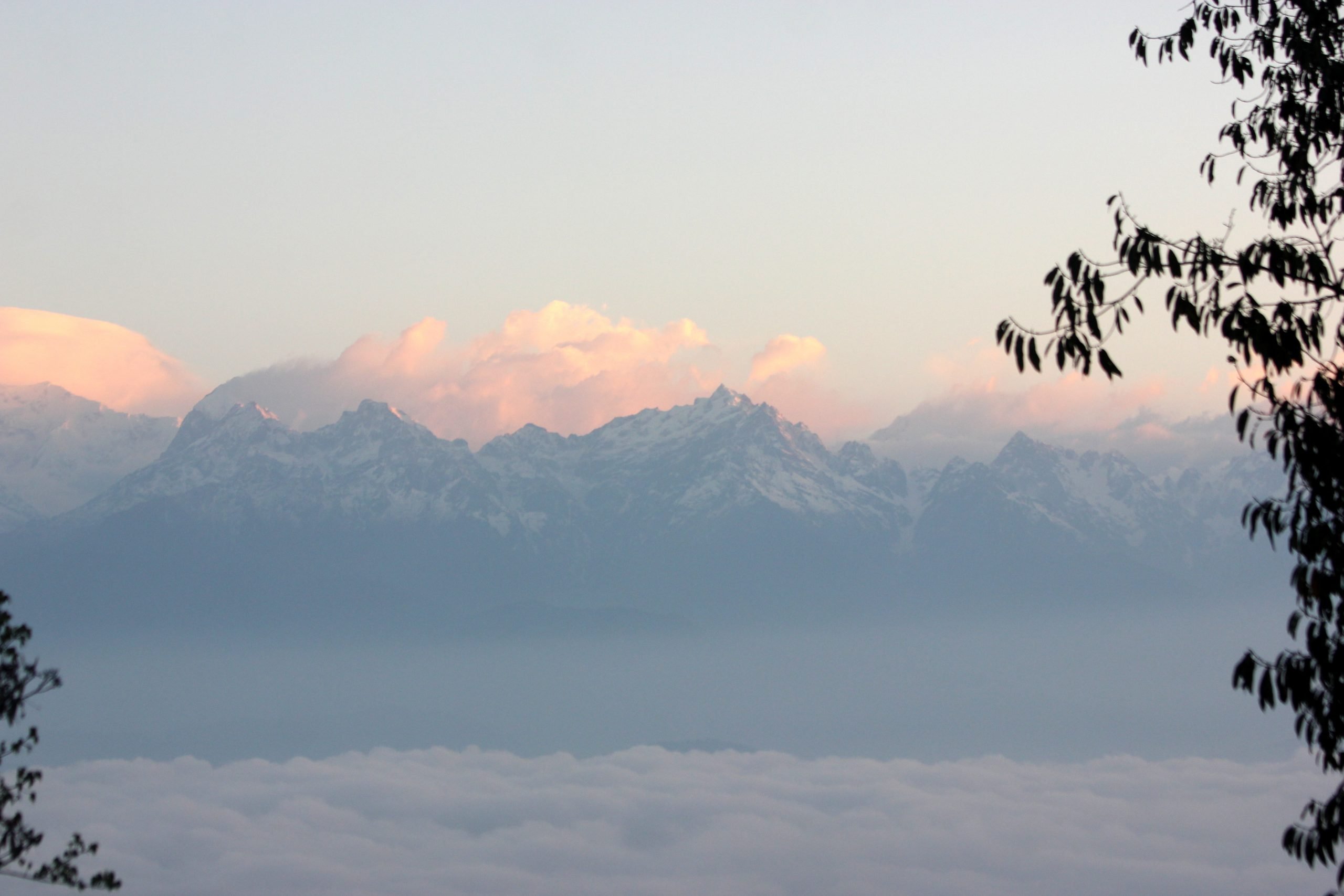 Sunrise Scenery on the Mountain