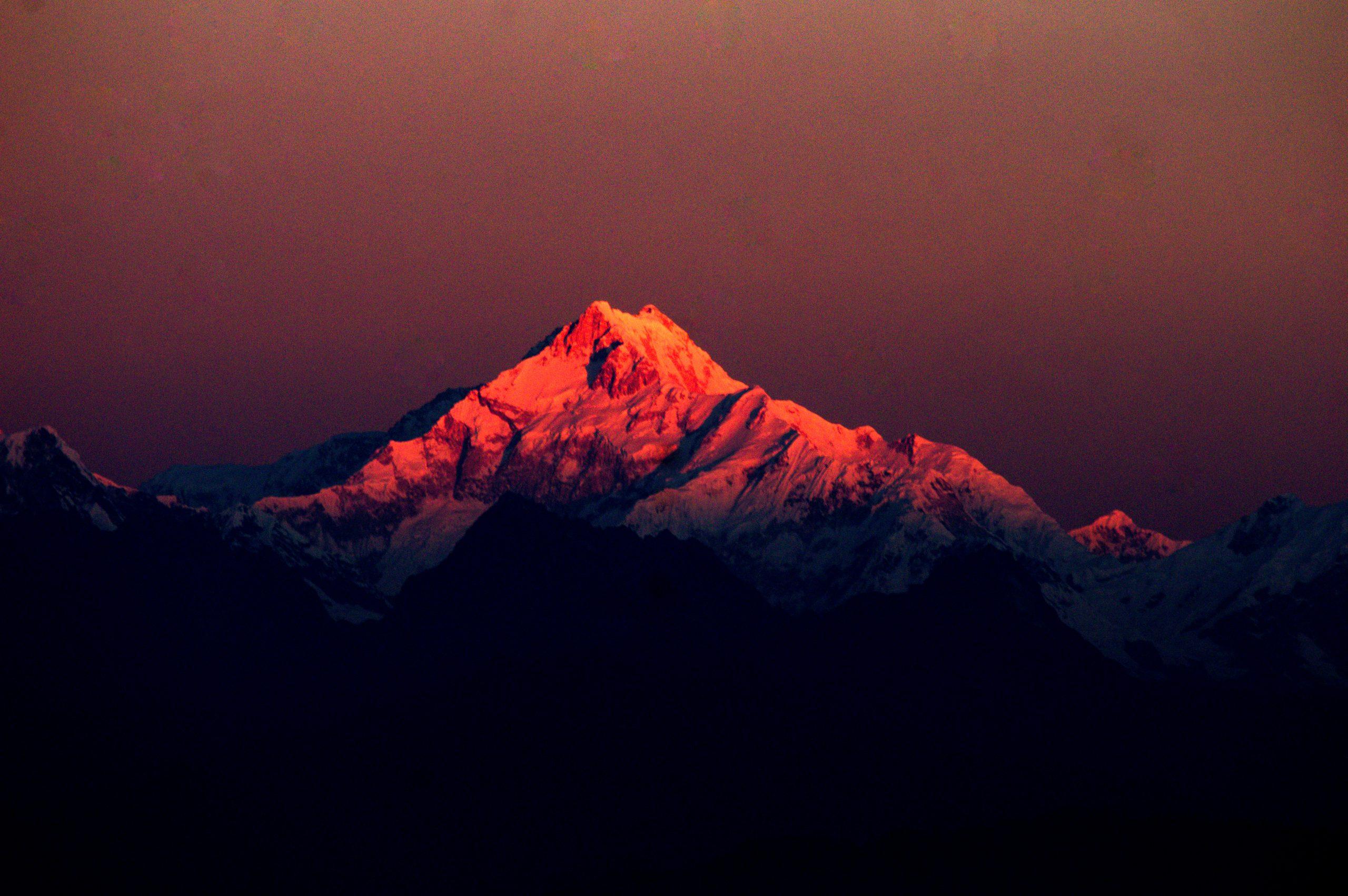Sunrise on Kanchenjungha, Mankhim, East Sikkim
