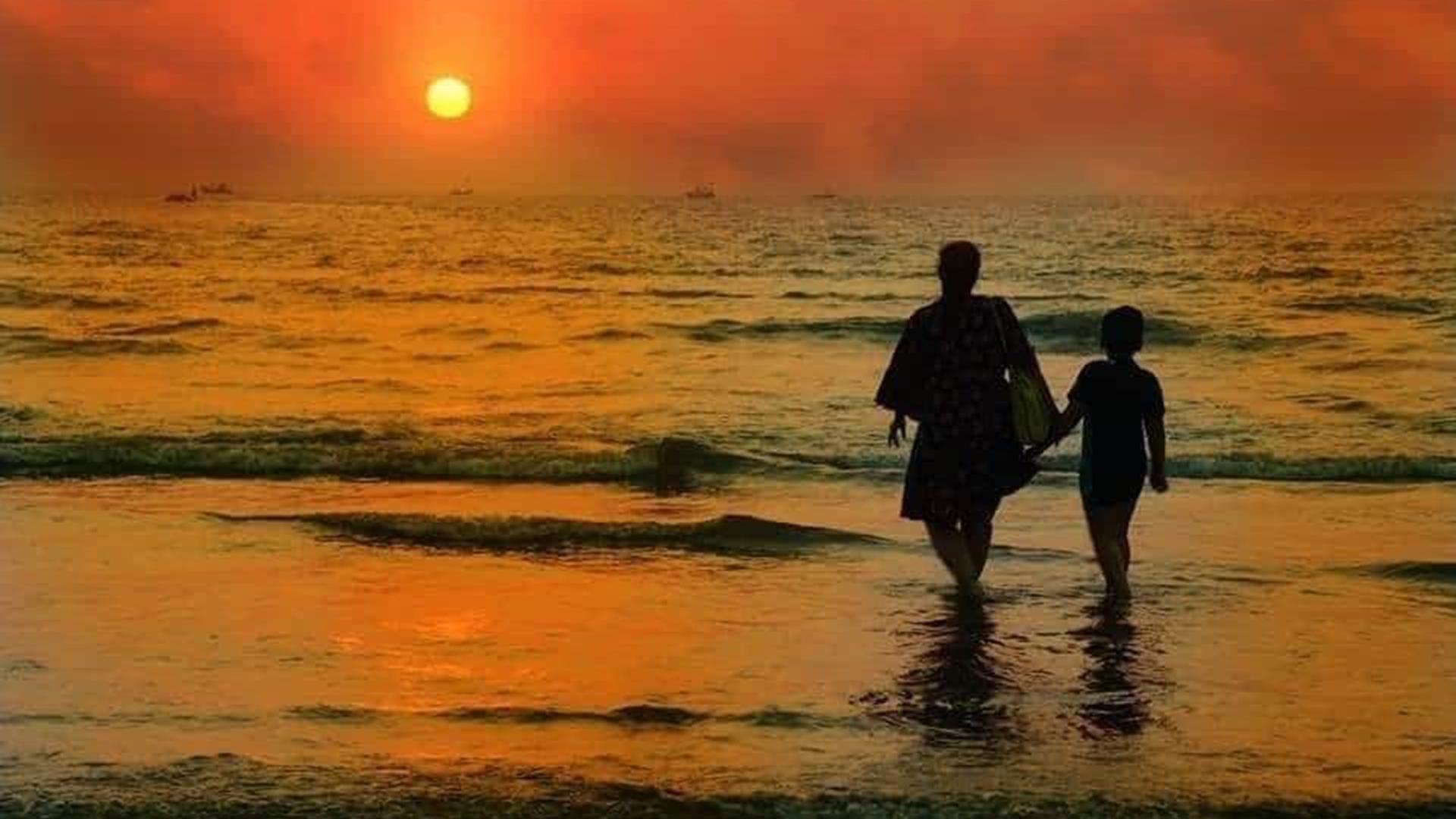 Sunset At Kihim Beach Alibag