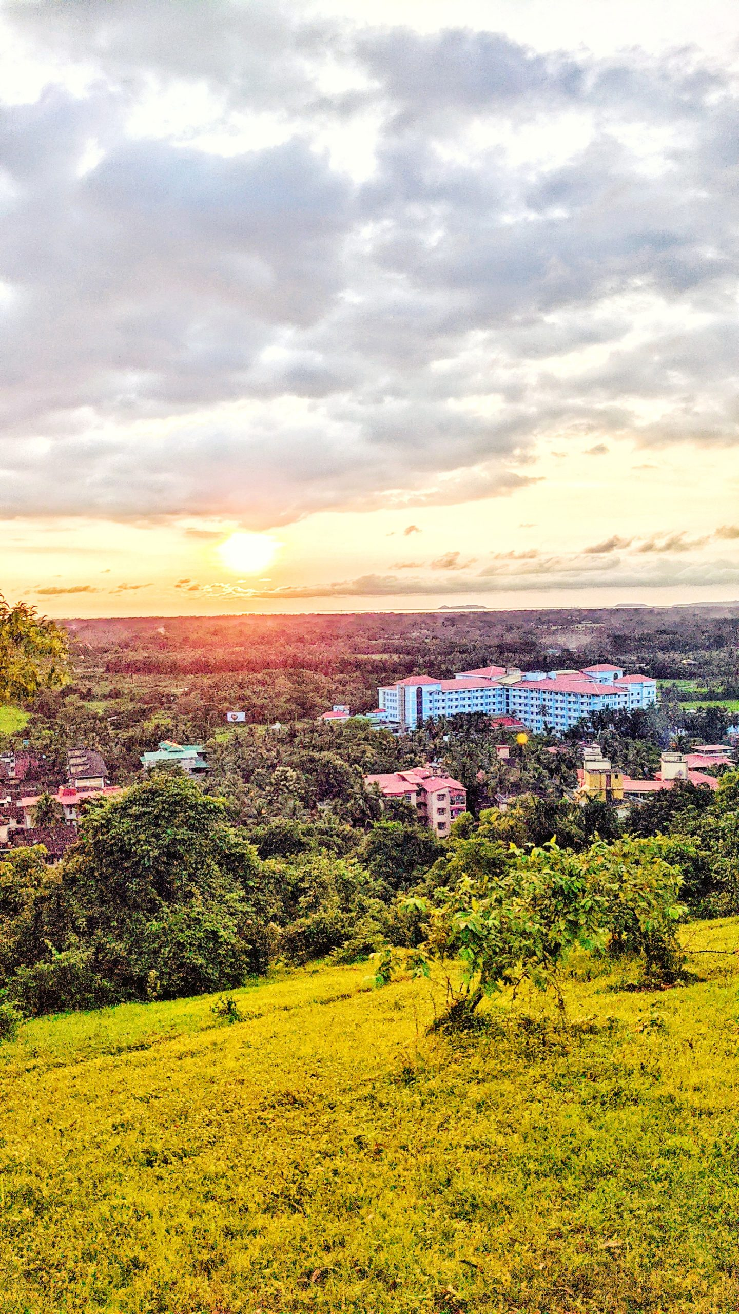 Sunset Landscape of Town