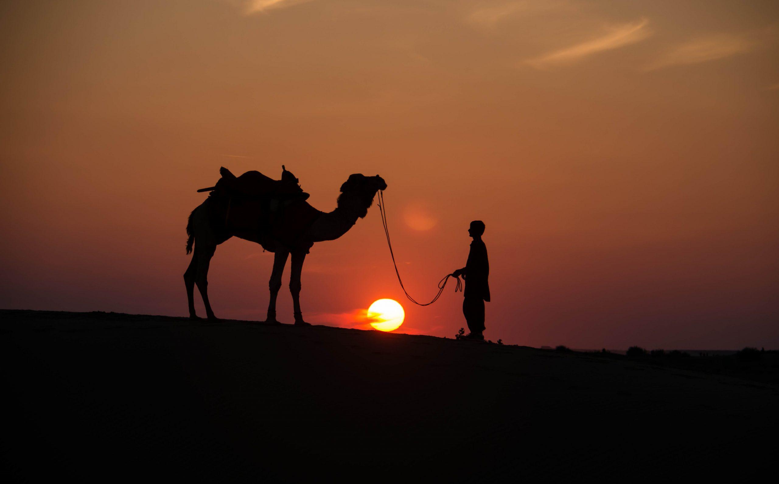 Sunset at Sam Dunes, Jaisalmer