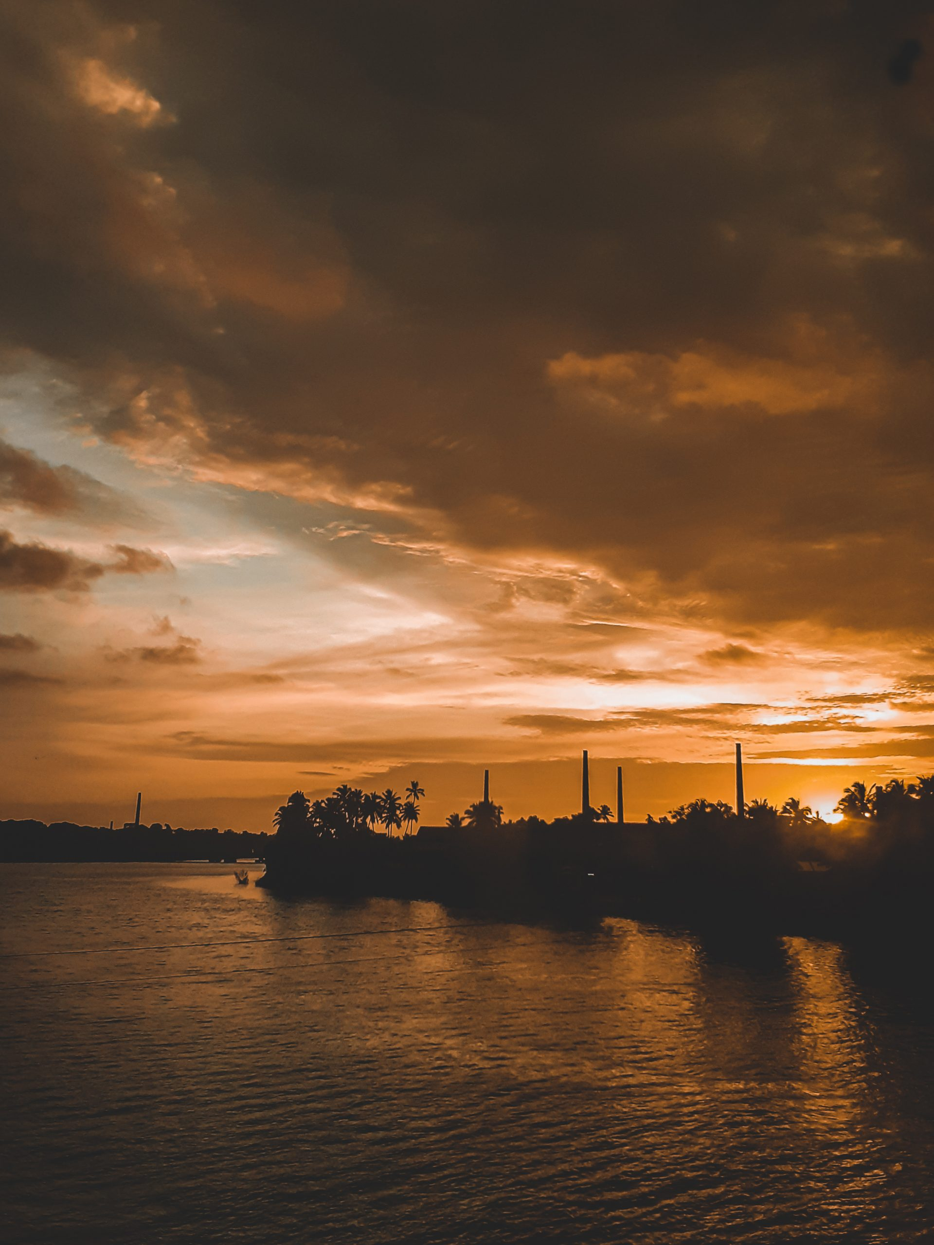 Sunset hour in Calicut, Kerala.