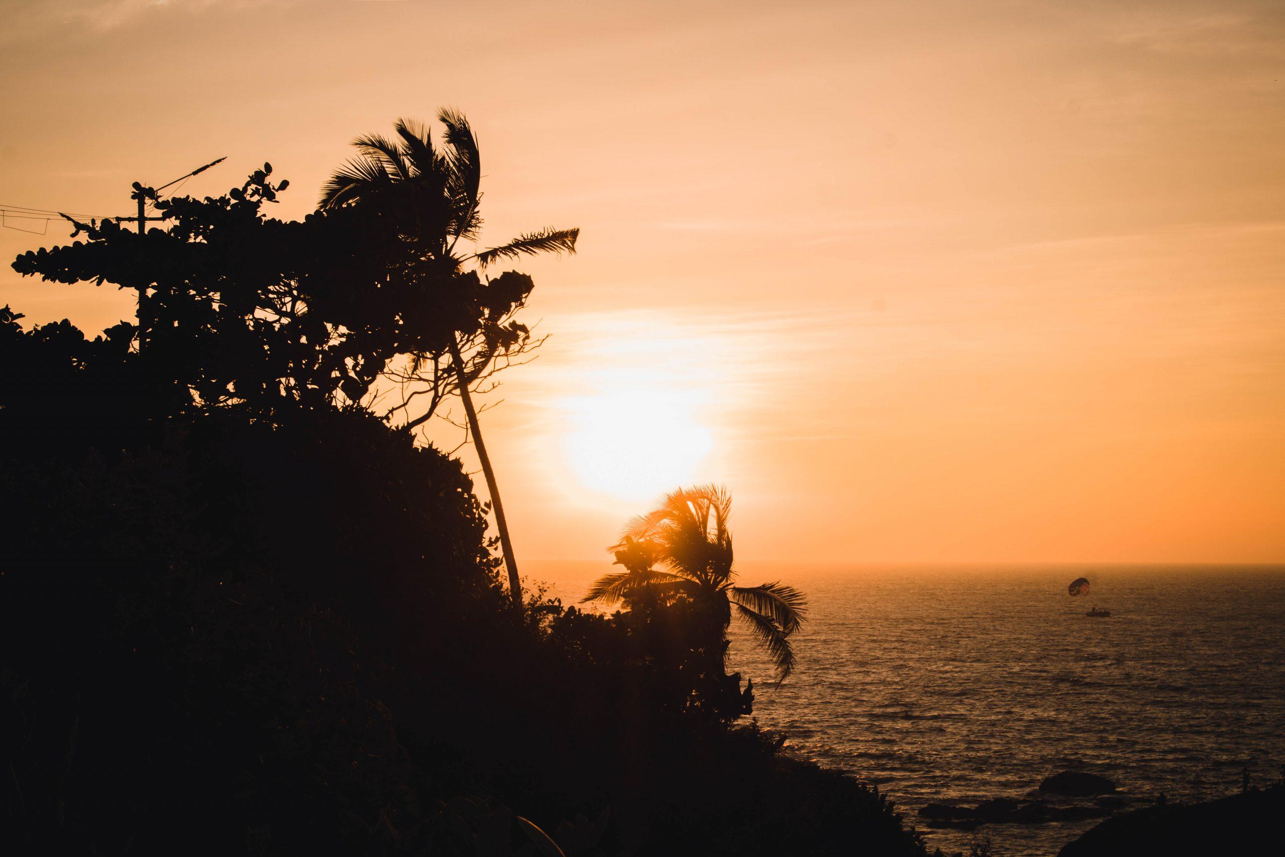 Sunset on Goa beach