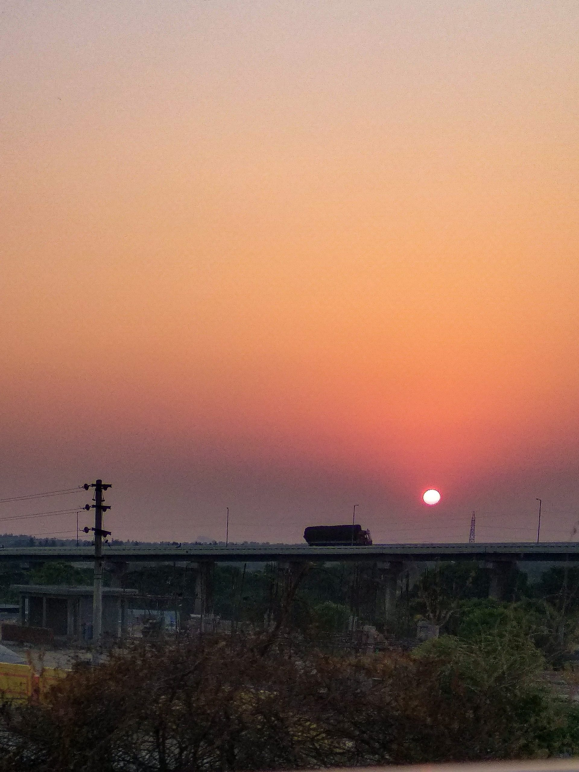 Sunset over a flyover