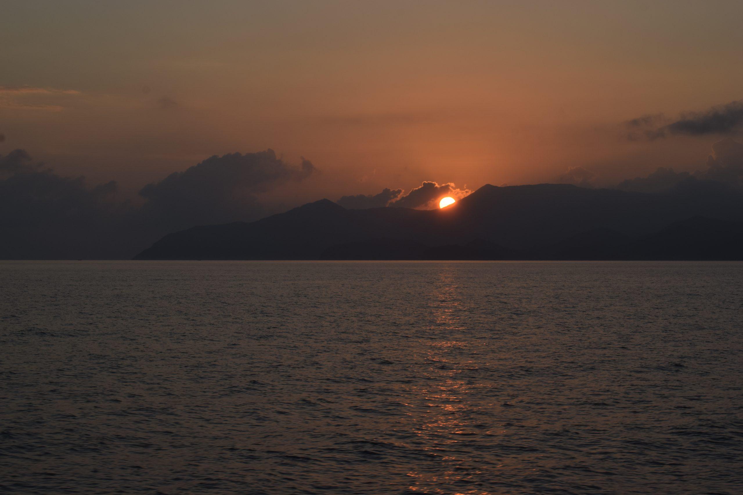 Sunset through Koh Phangan