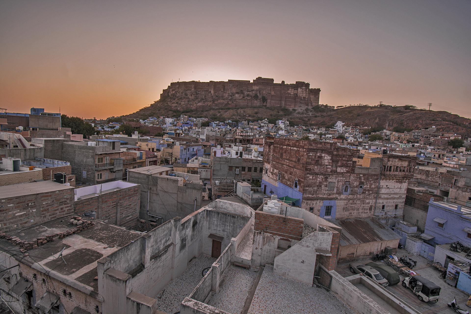 Sunset view of Jodhpur city and Mehrangarh Fort