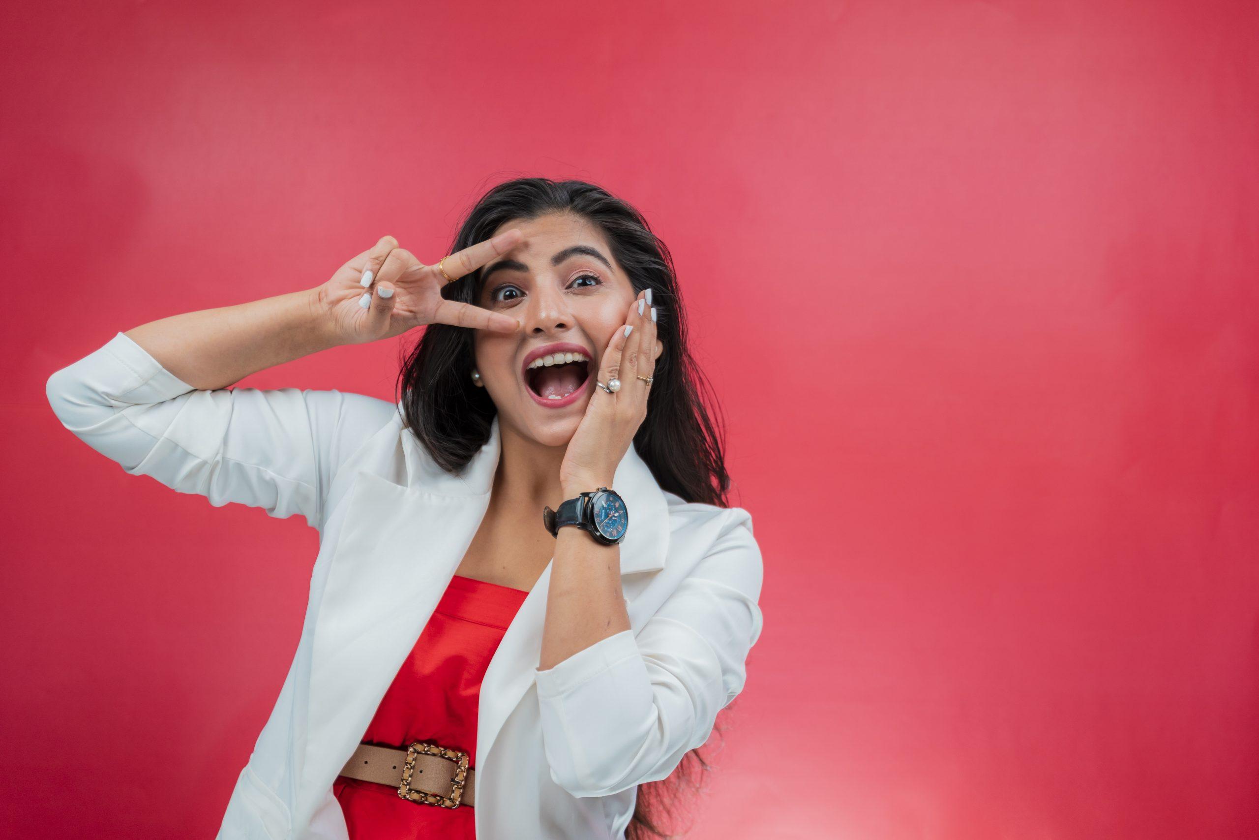 Super happy Indian girl