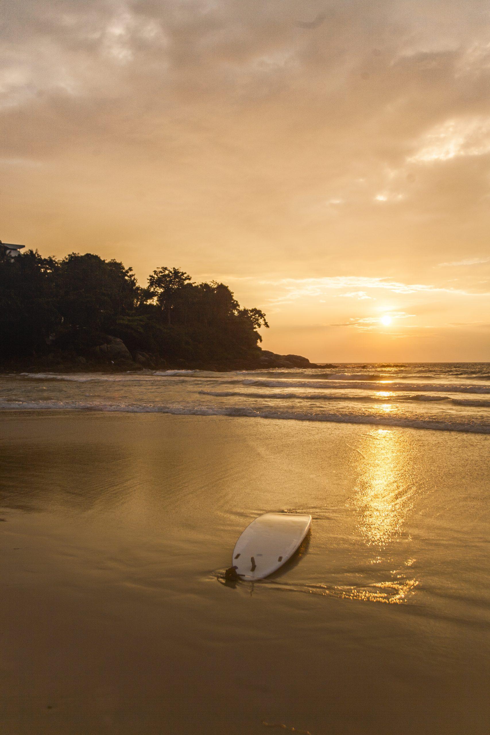 Surfboard on a Beach in Bali
