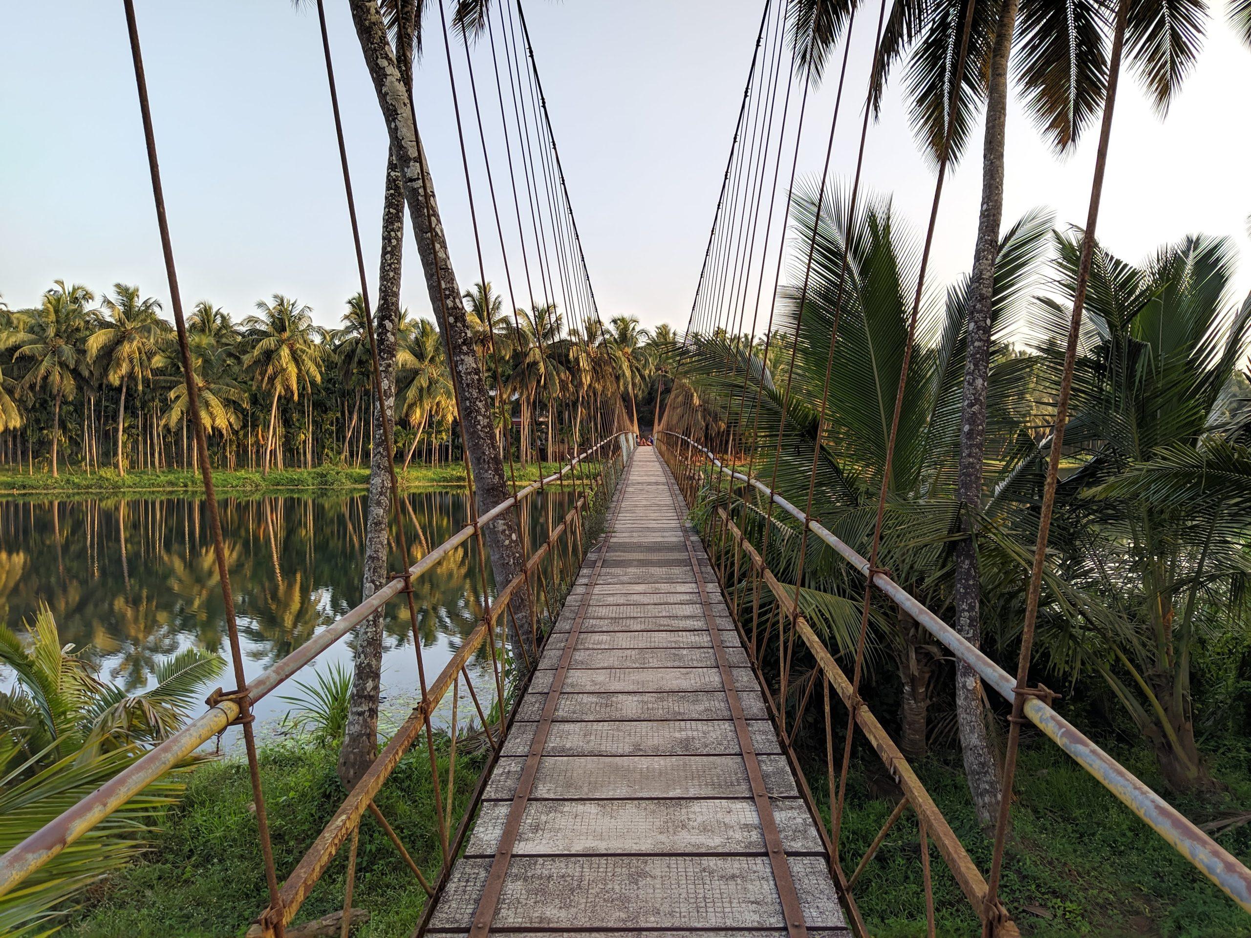 Suspension Bridge on a river