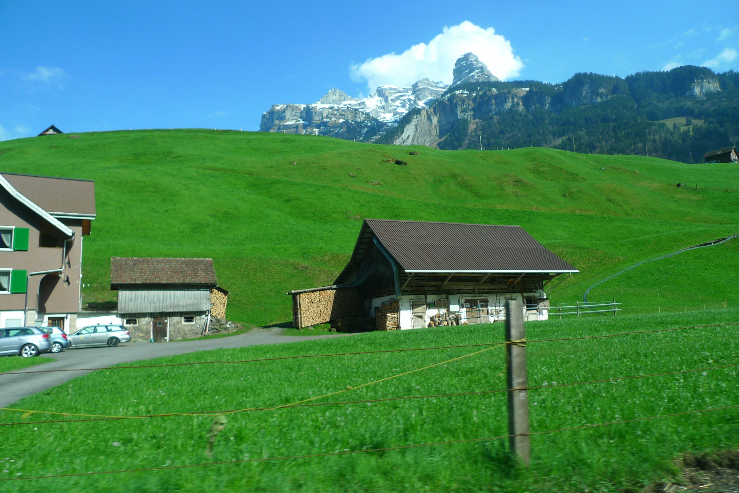 Lush hills of Switzerland