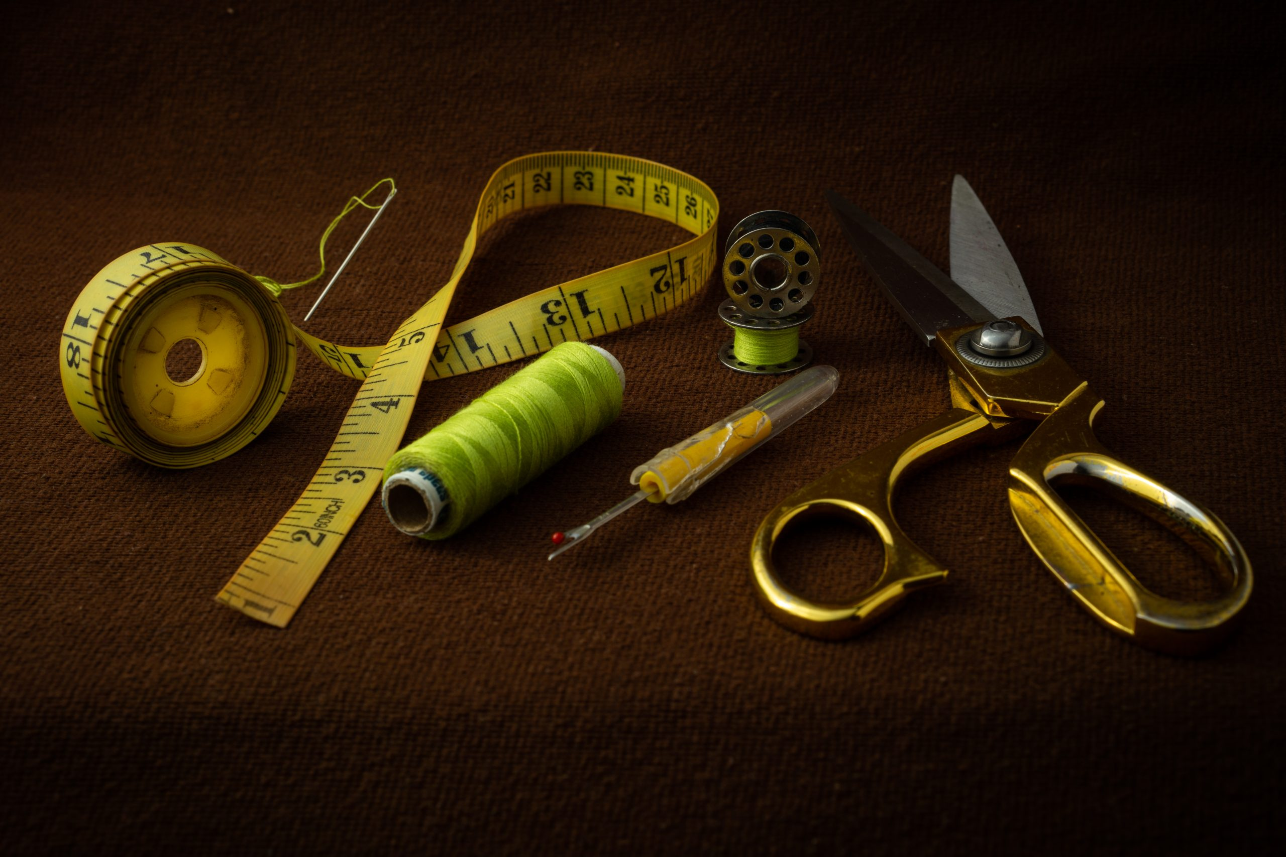 materials and equipment used in tailoring