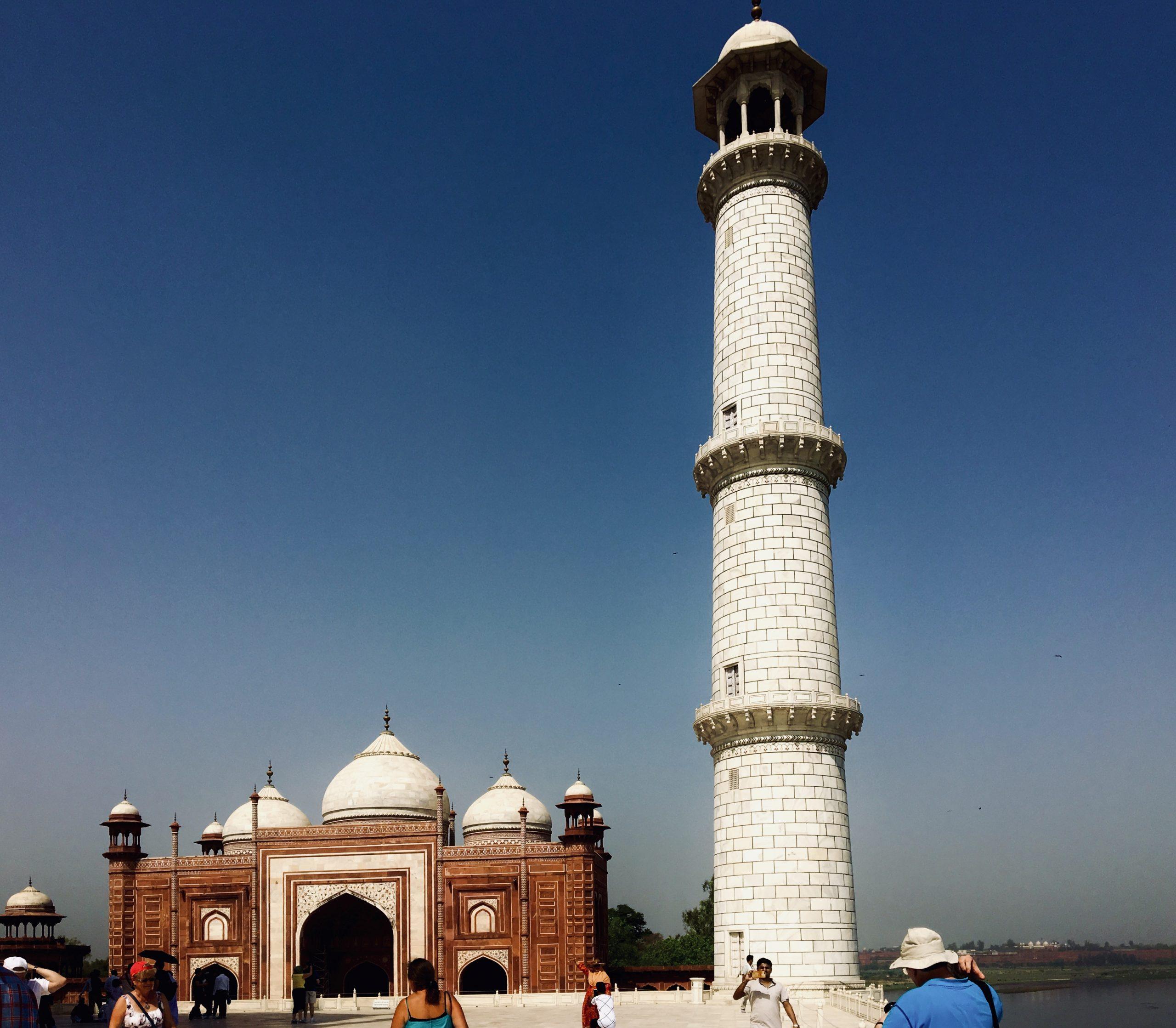 Tourists at Taj Ganj.