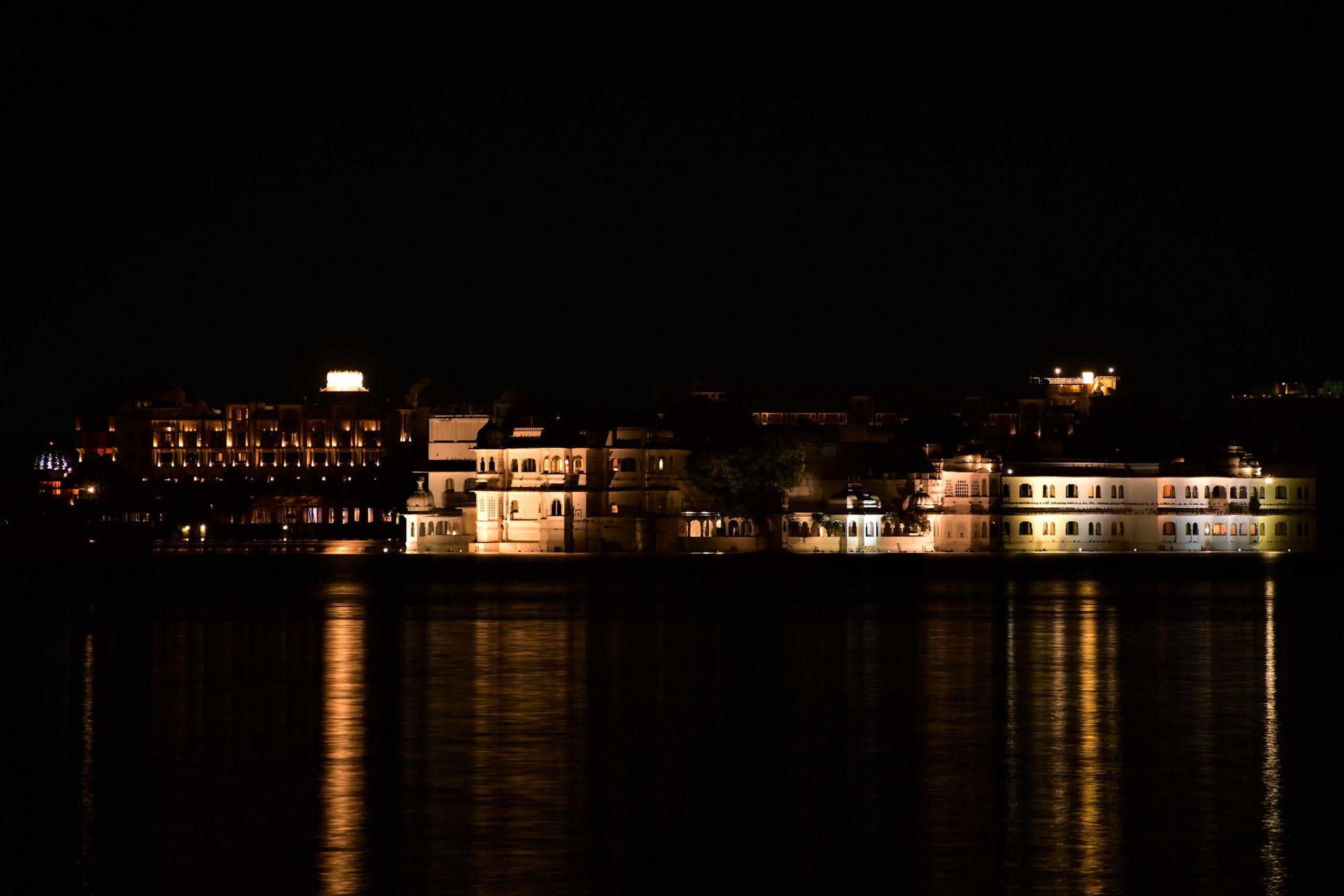 A lakeside palace