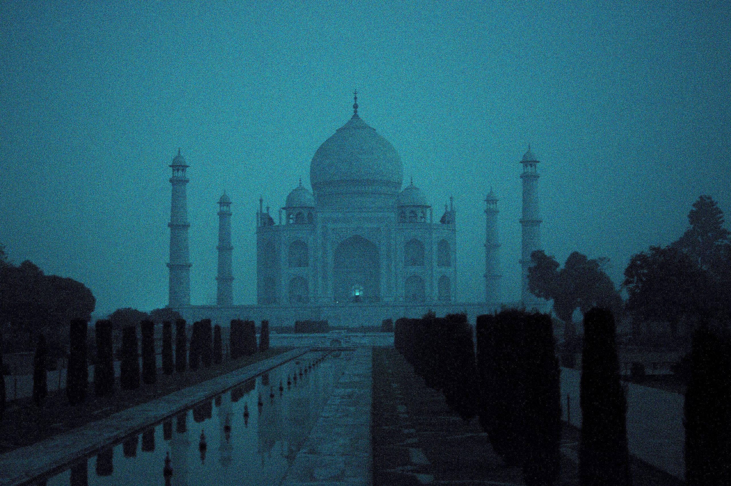 Taj Mahal on a Full Moon Night