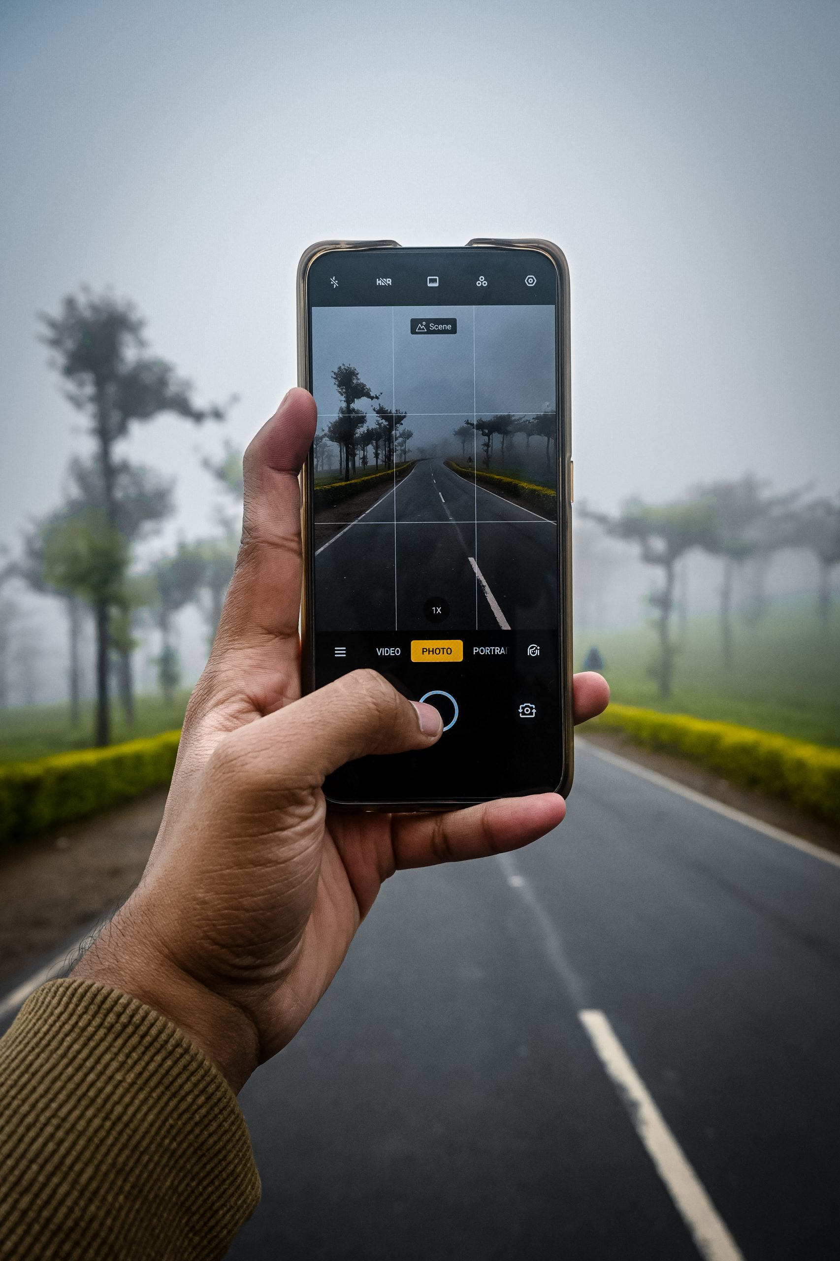 Taking picture with mobile camera