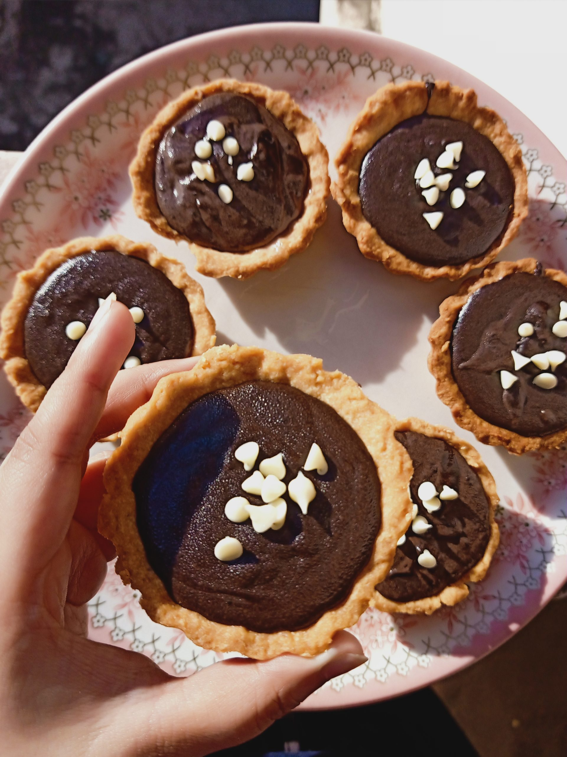 Tart with chocolate ganache!
