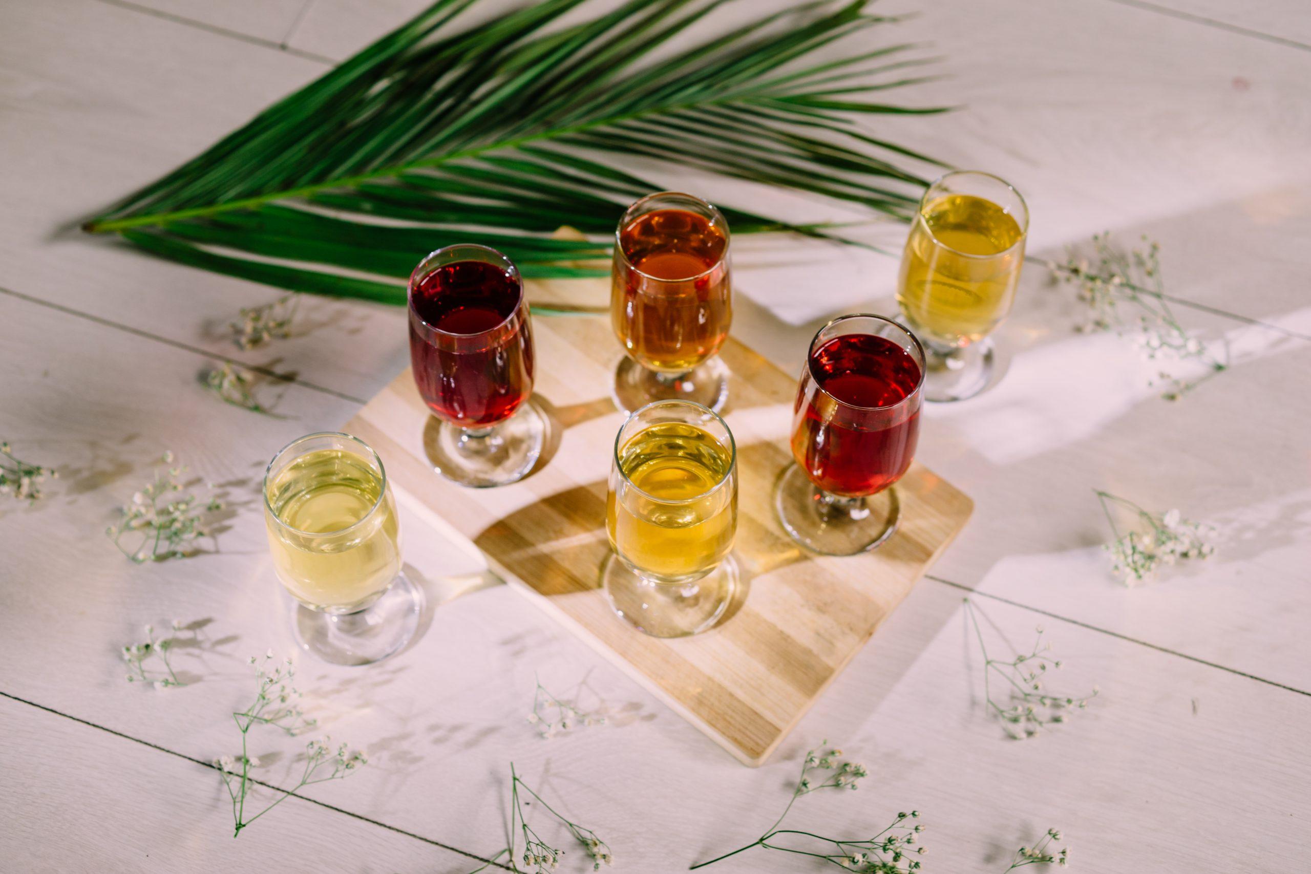 Tea on Wine Glass