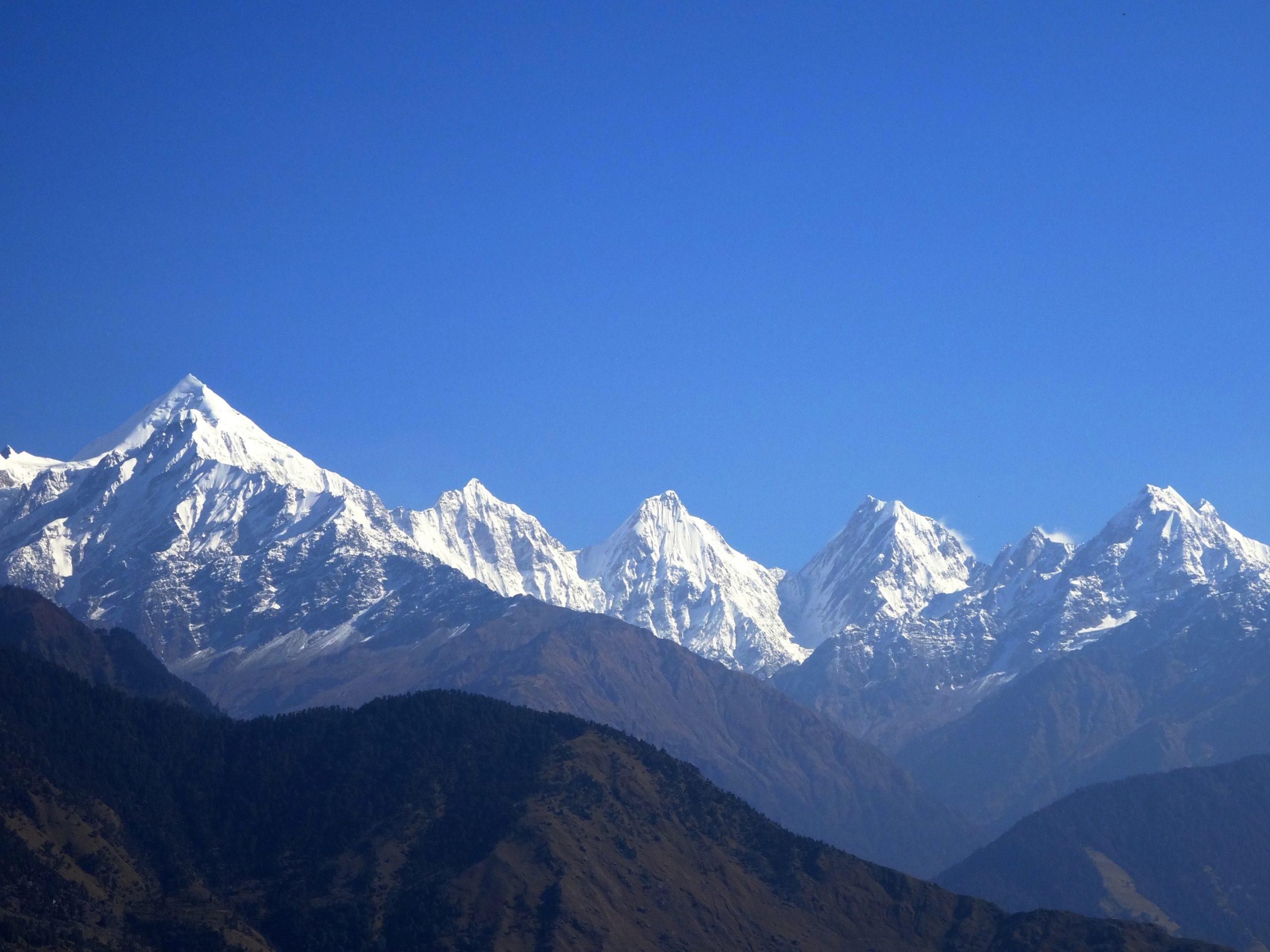 The Panchachuli peaks from Munsiyari