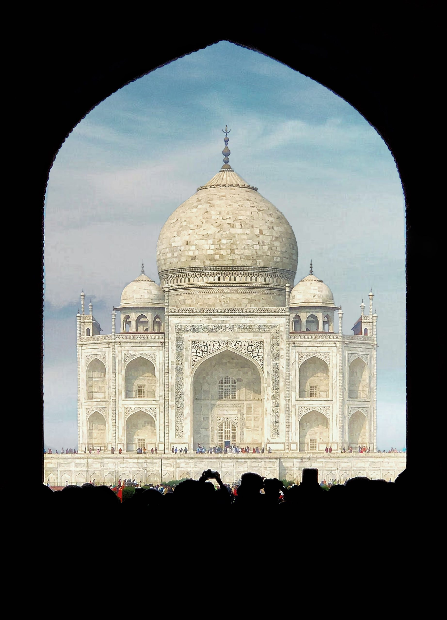 Taj Mahal through the door.