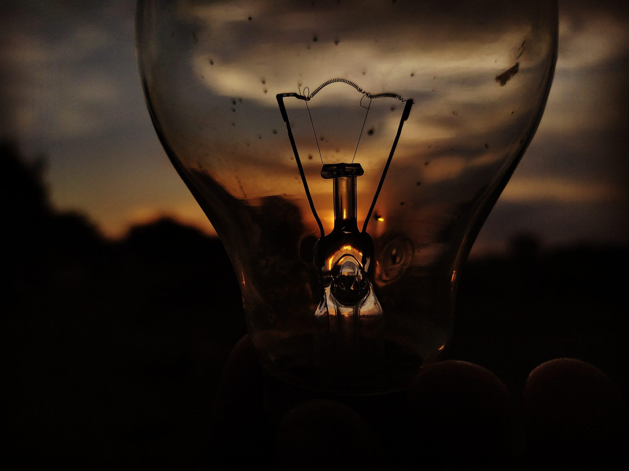 The glowing bulb
