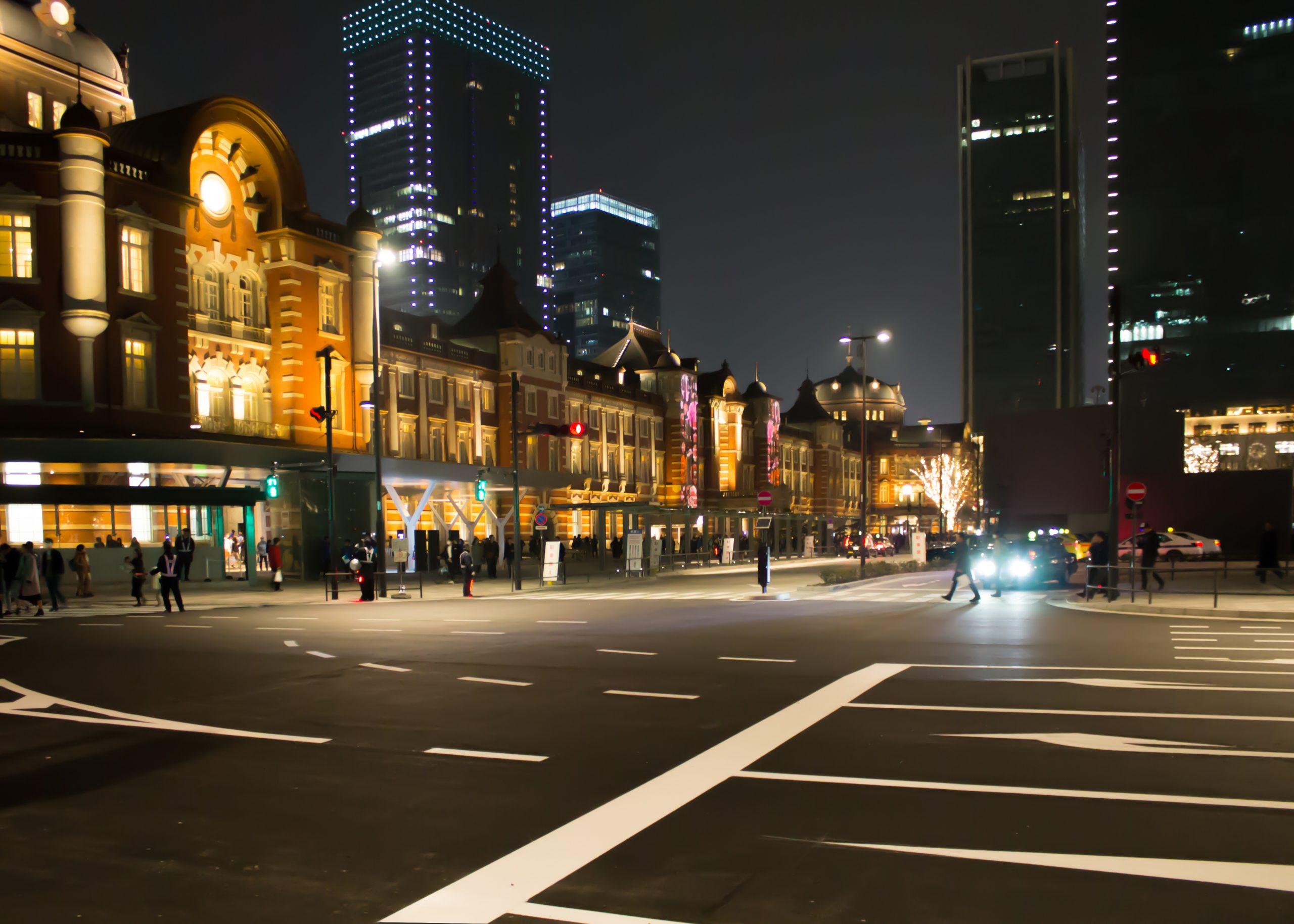 Tokyo Station in Night