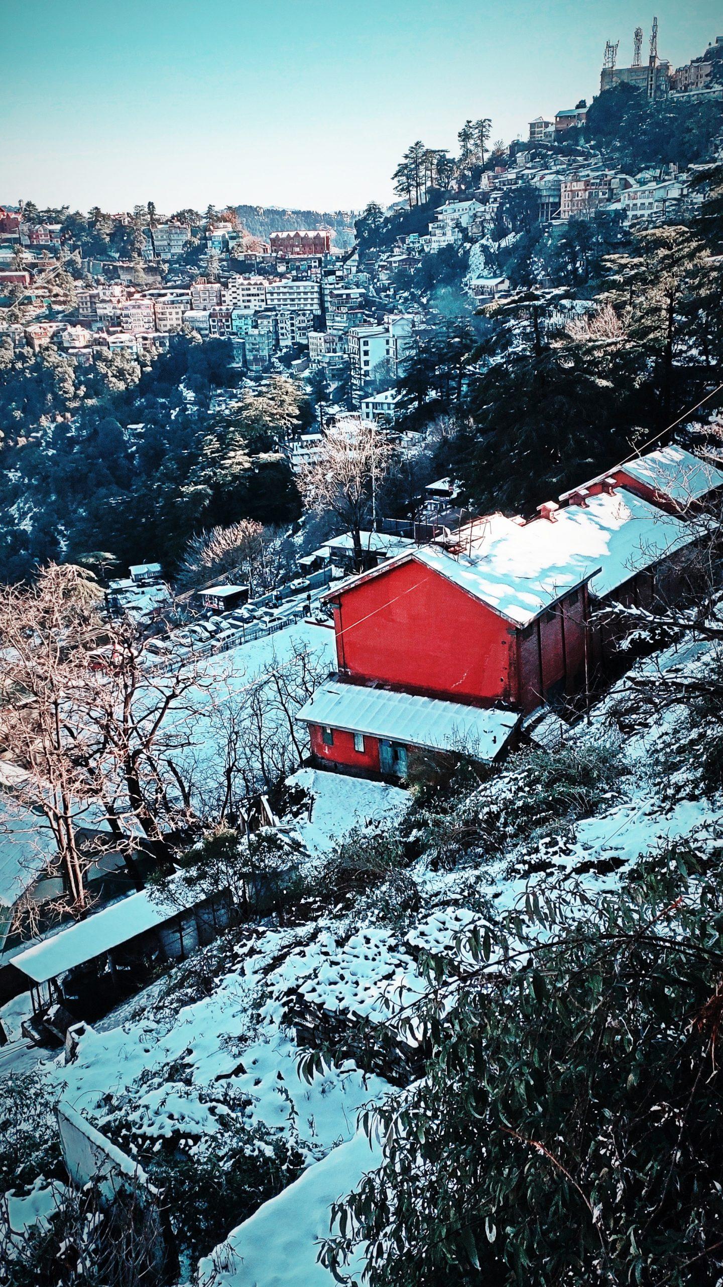 Top shot of a village