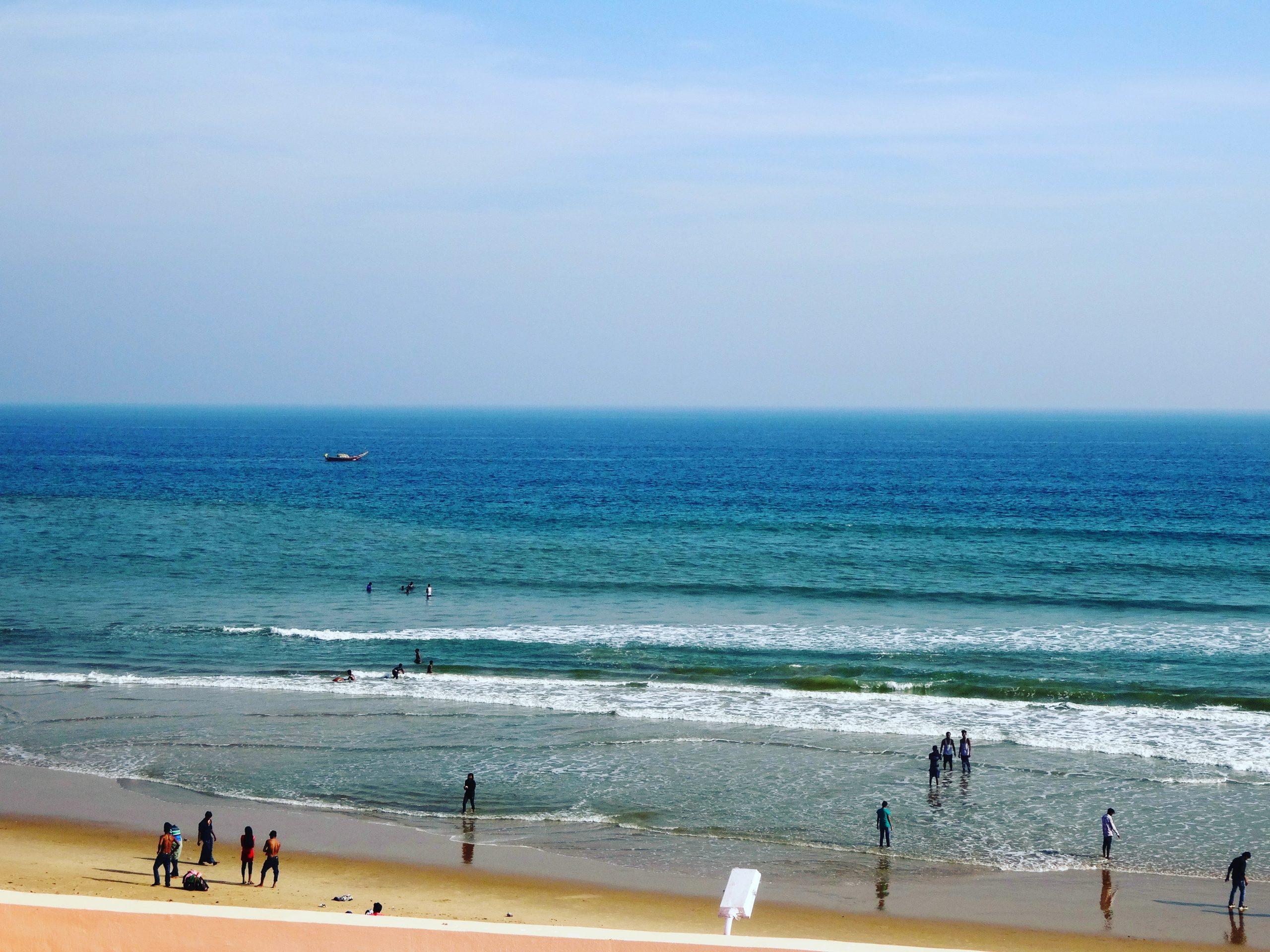 Tourists at Gopalpur Beach