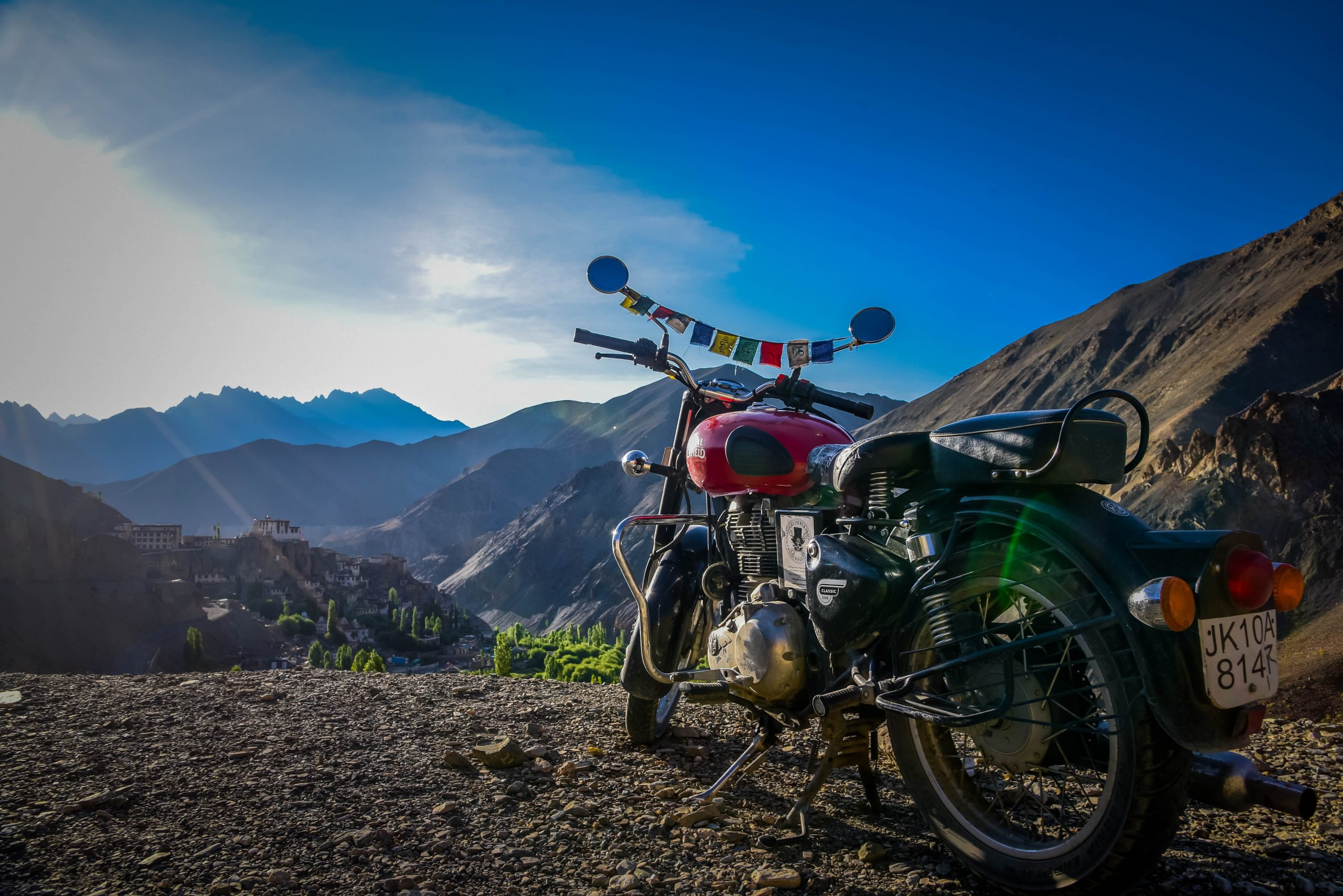 Travel Bike in the Mountains