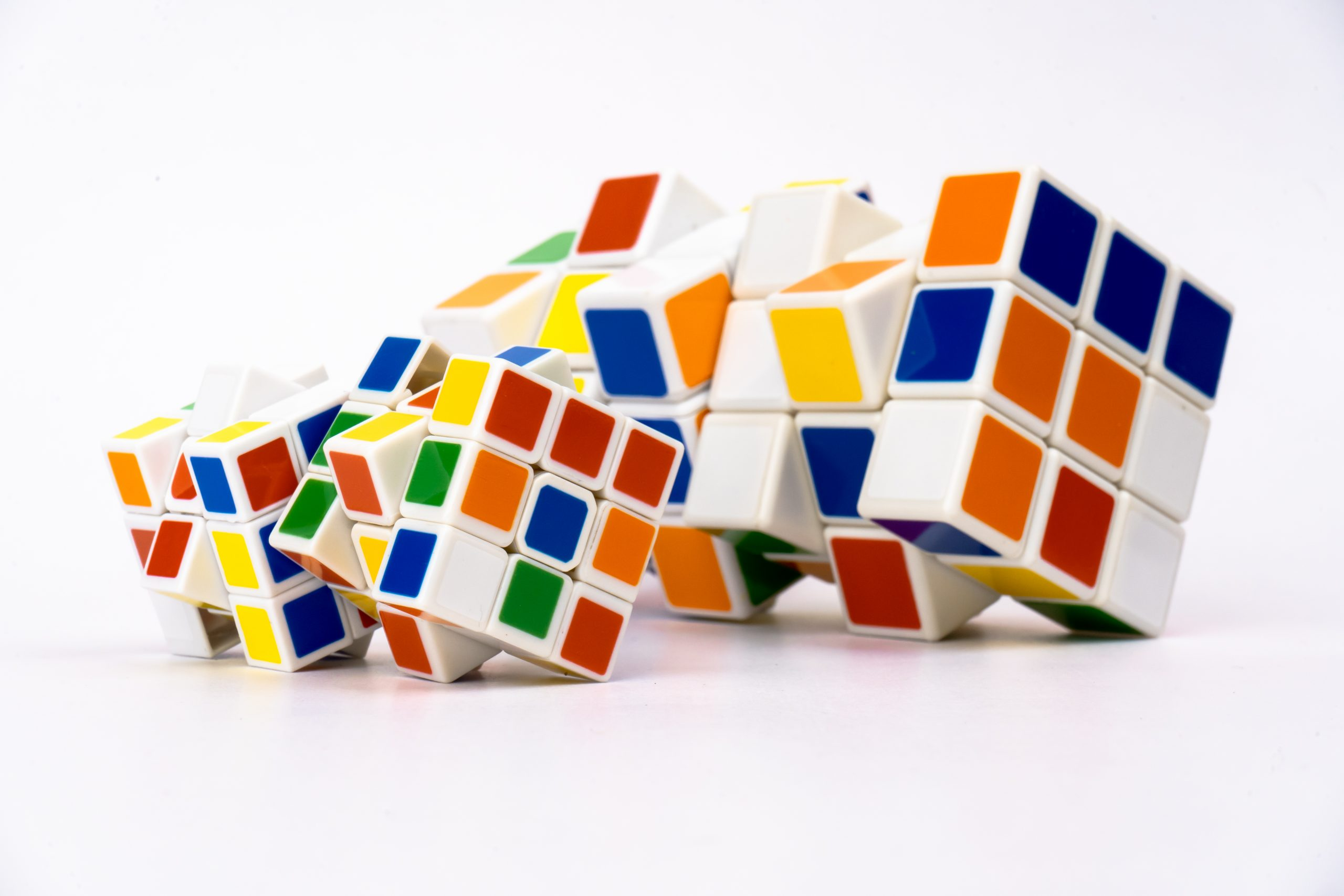 Unsolved Rubik's Cubes