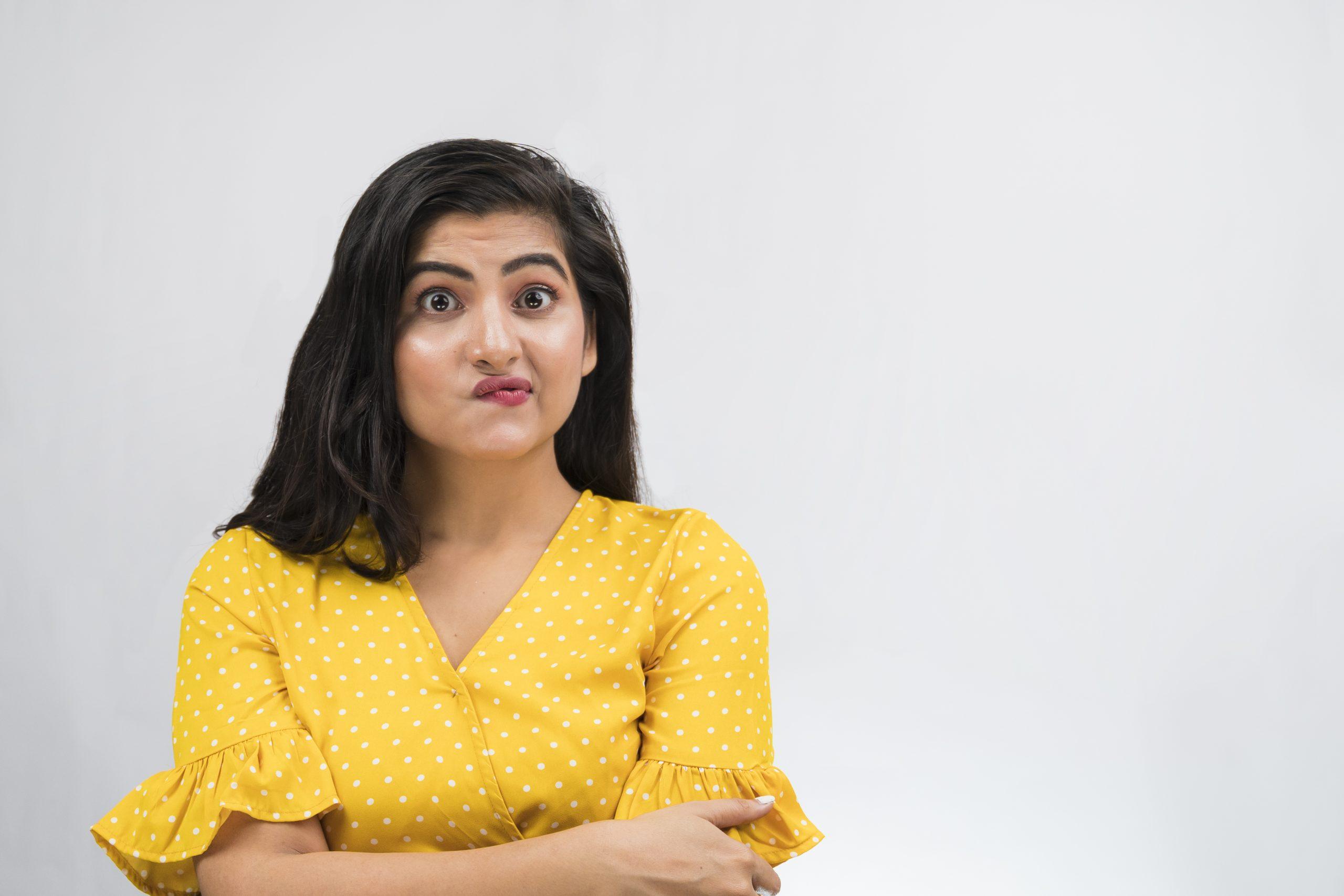 Upset indian girl