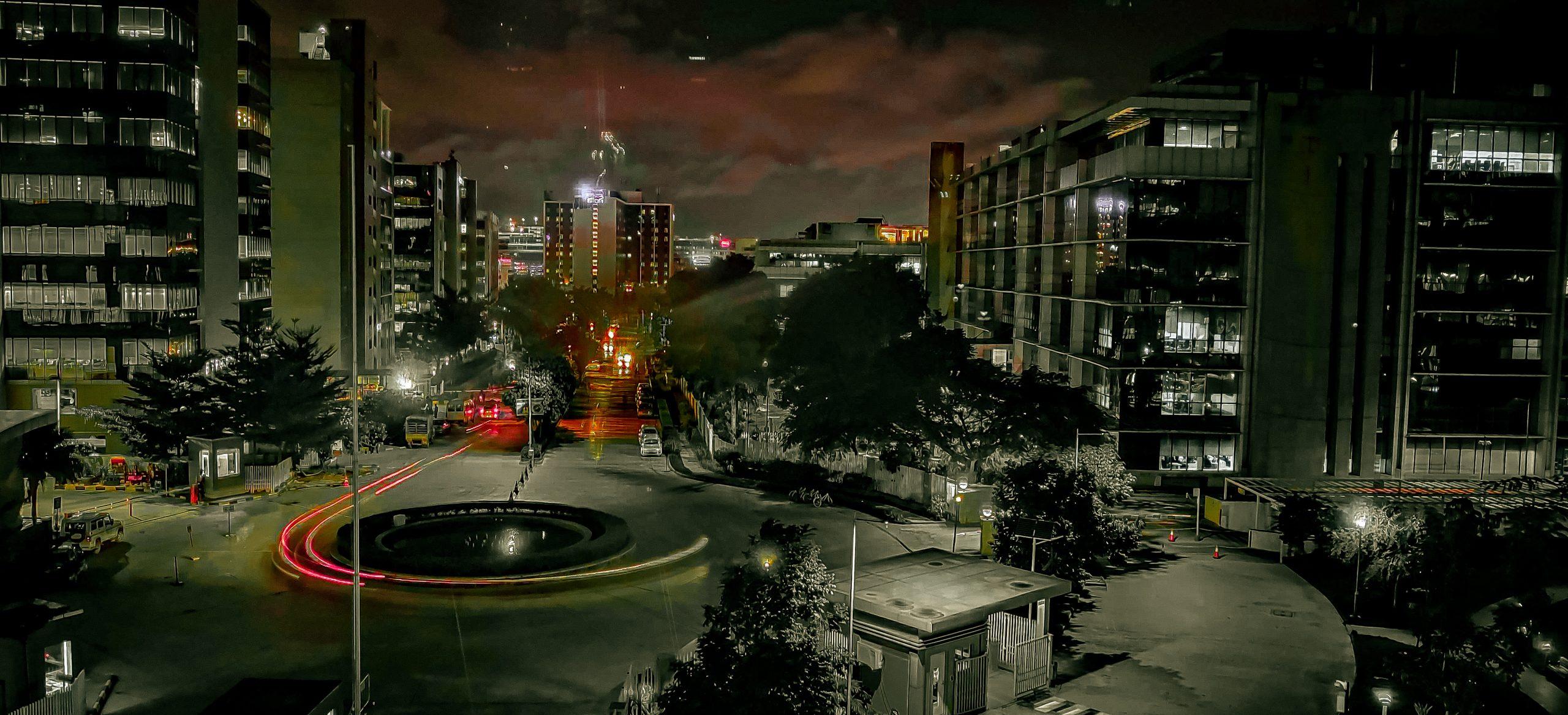 Urban Area in Night Shoot