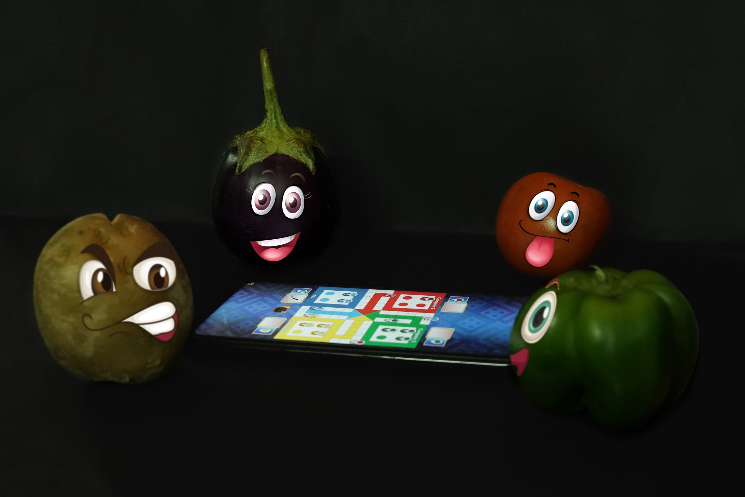 Vegetables Playing Ludo