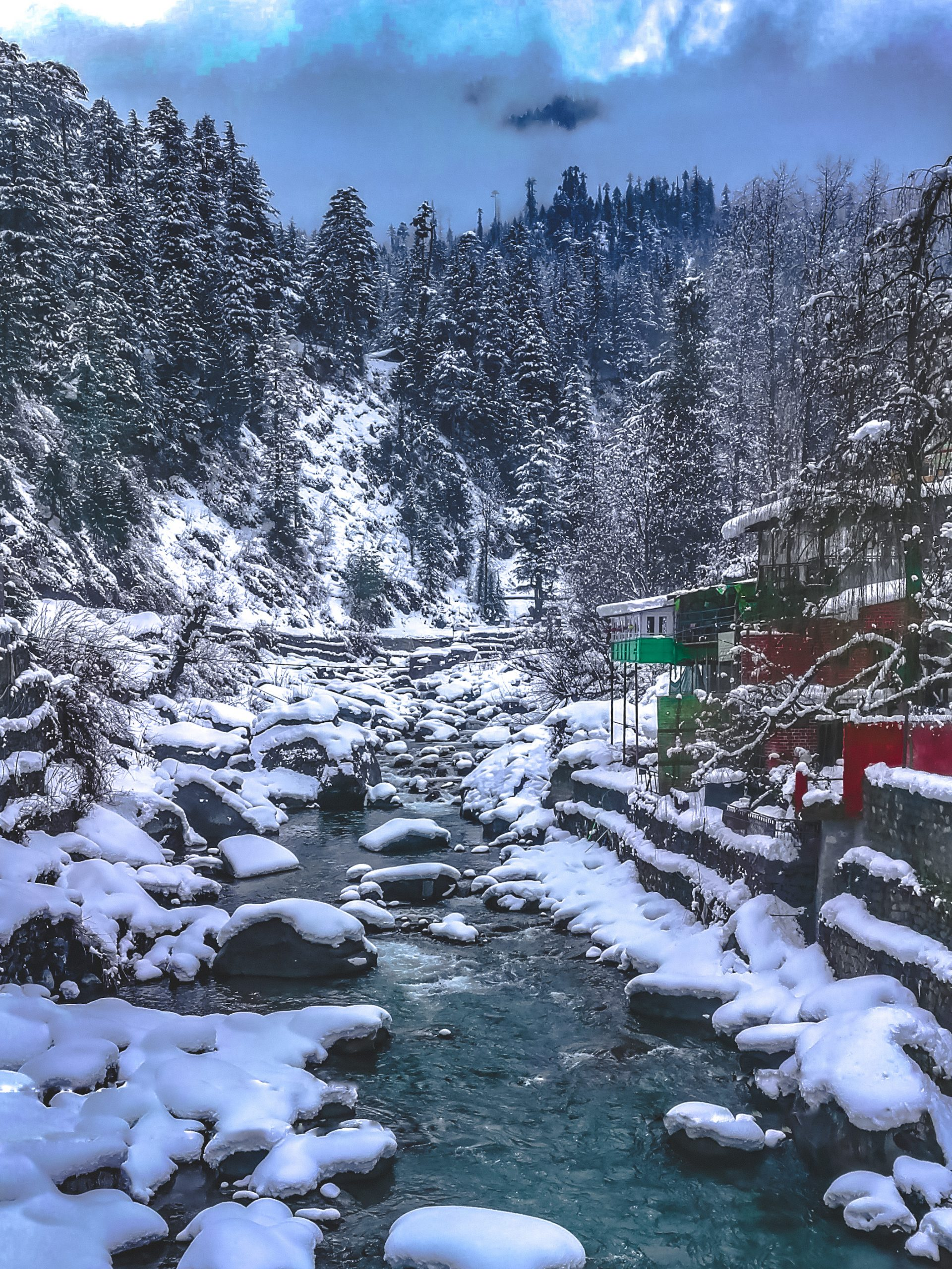Snow in a Himalayan Area