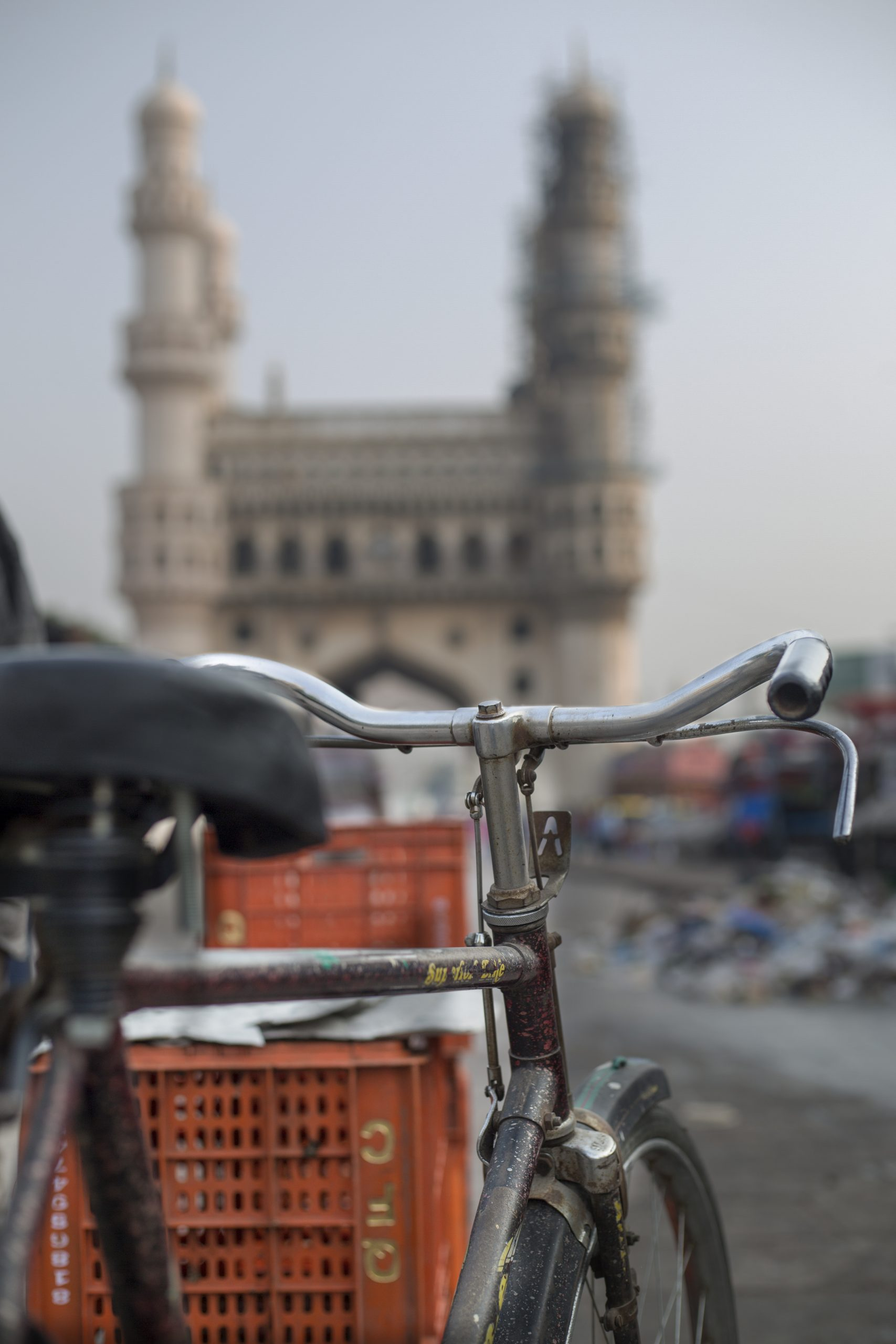 View of Charminar from Hero Jet Cycle