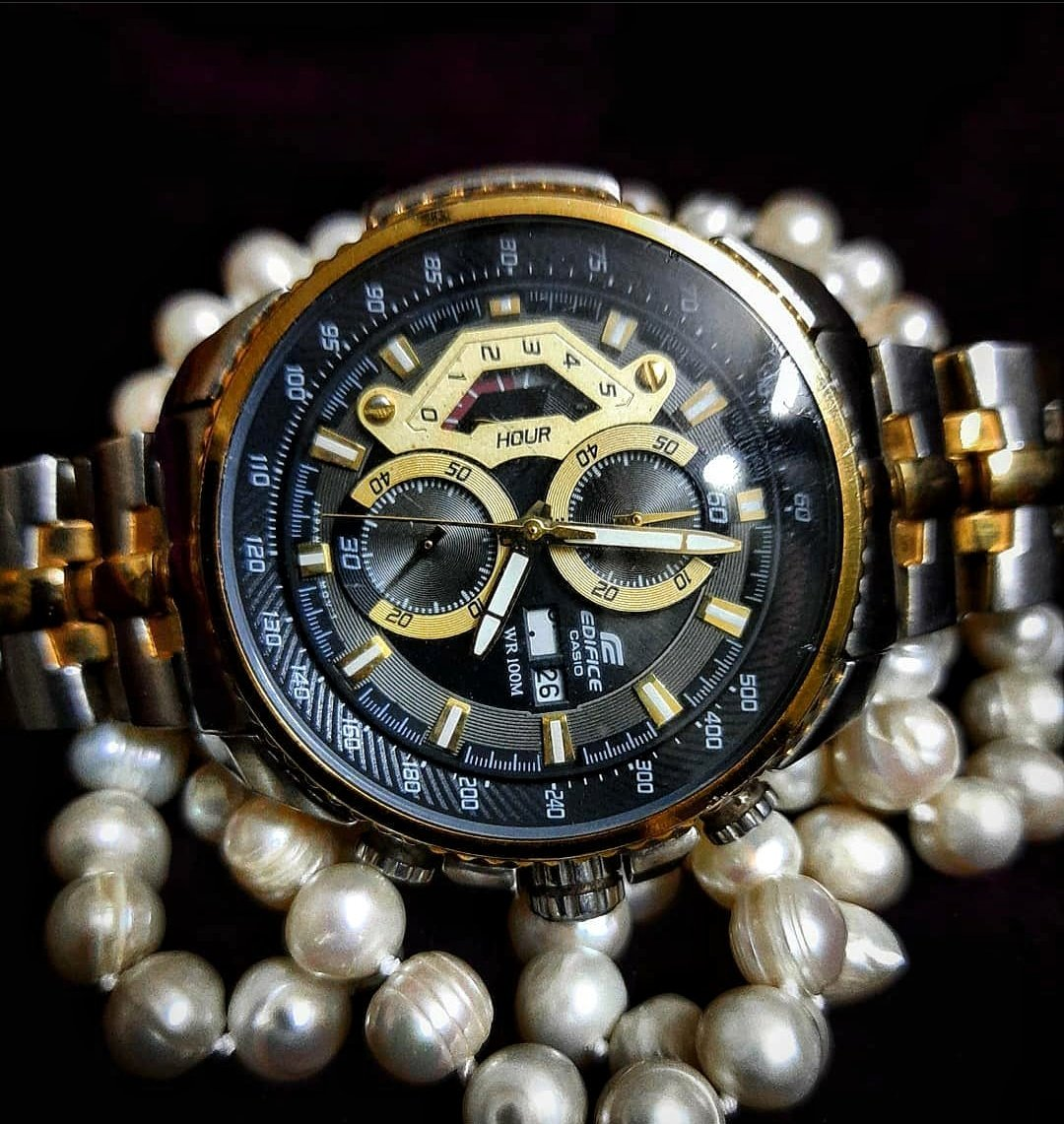 Casio watch and pearls