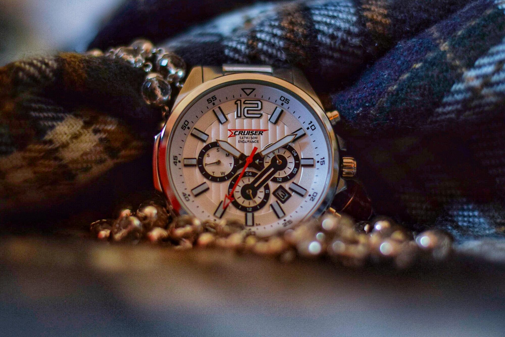 An expensive wristwatch