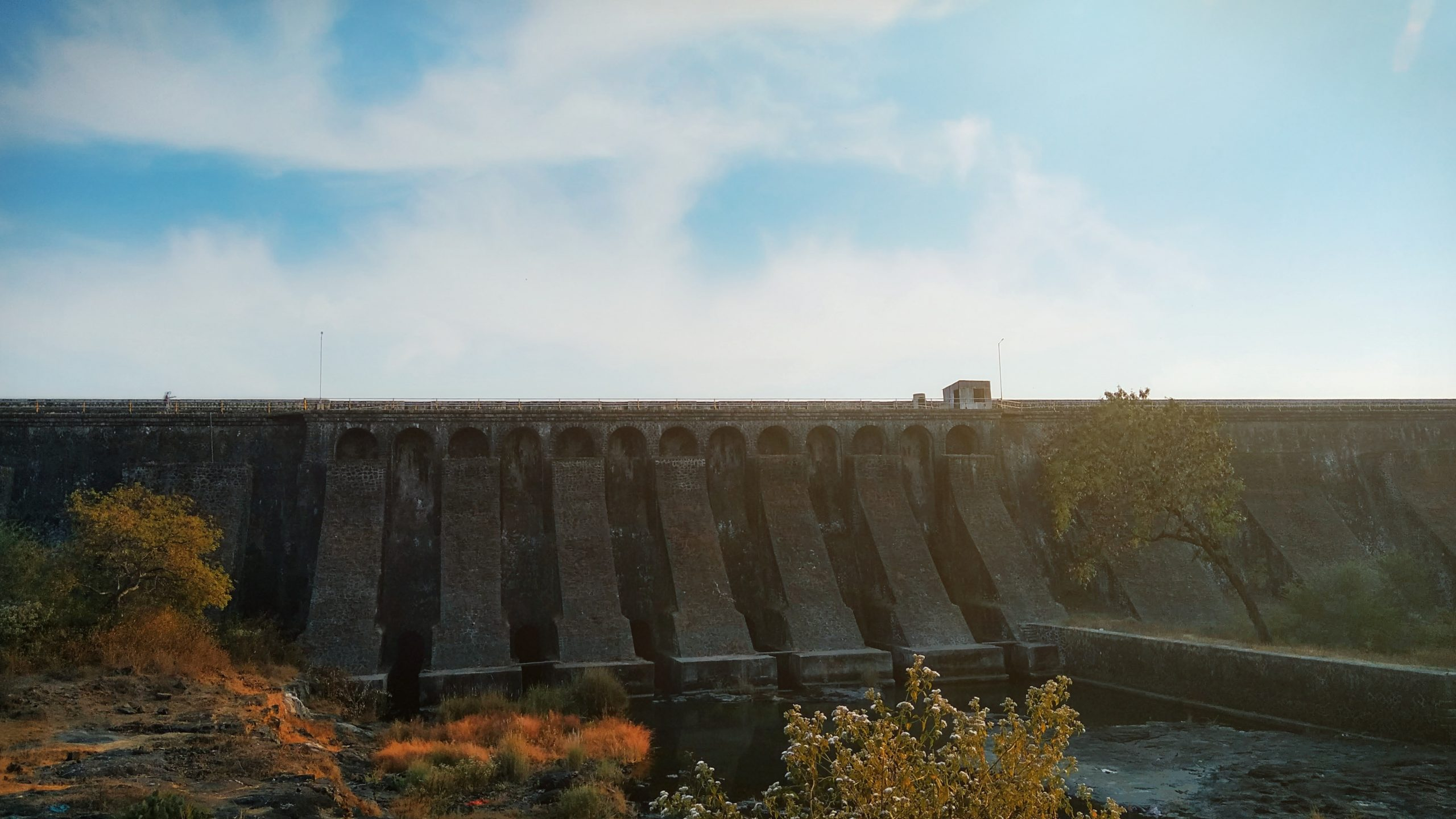 Water dam Shot on a Sunny Day