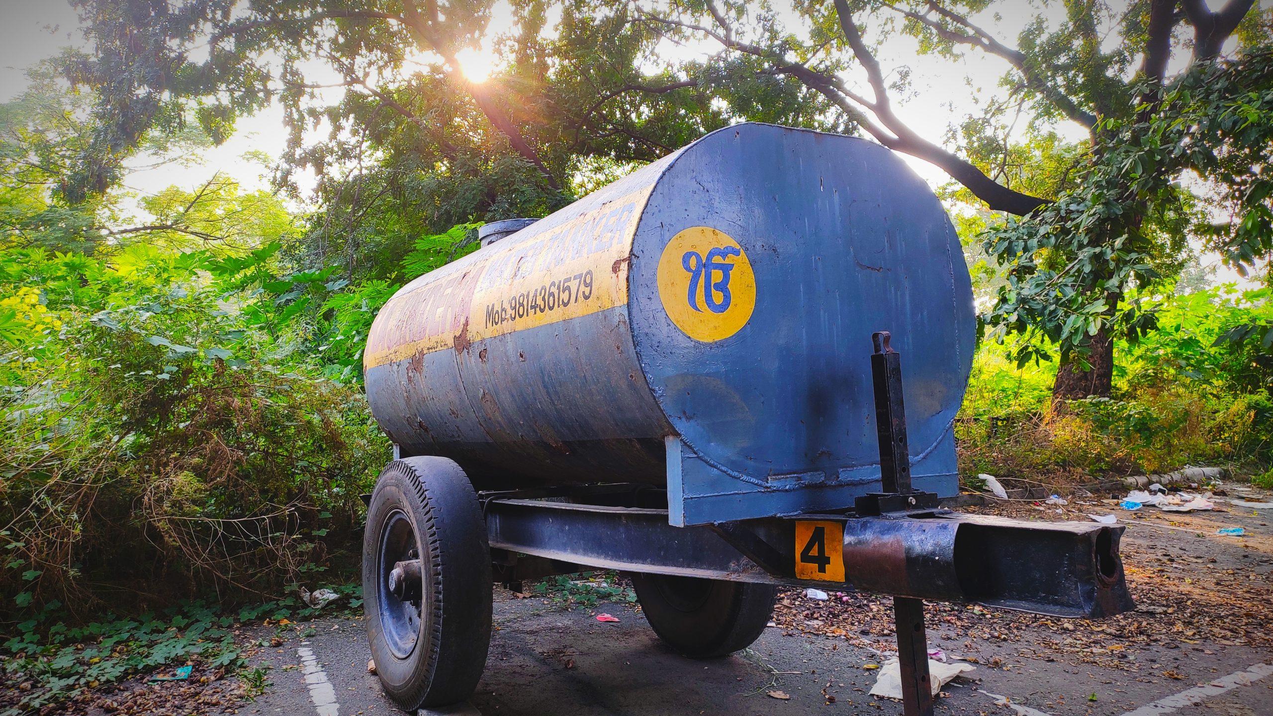 Water tanker vehicle