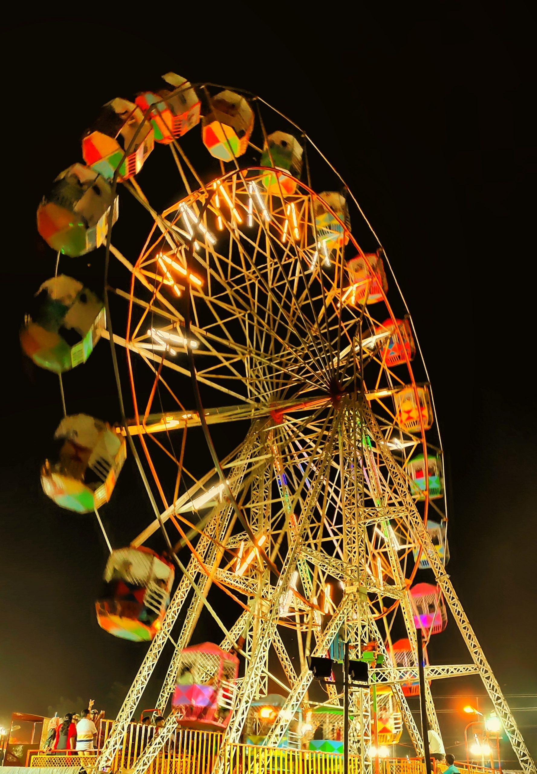 Big wheel in festival.