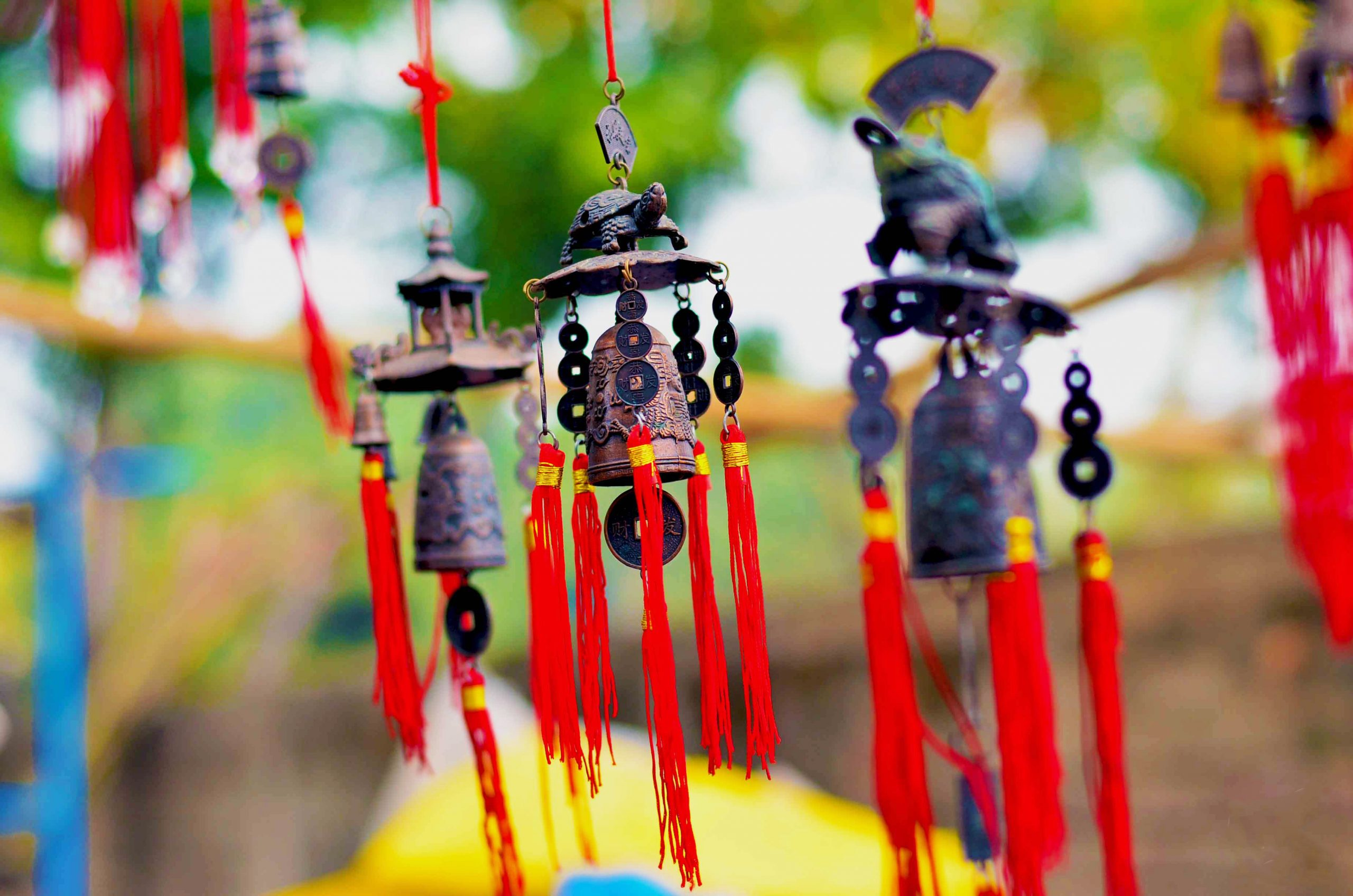 Traditional Wind Chimes on Focus