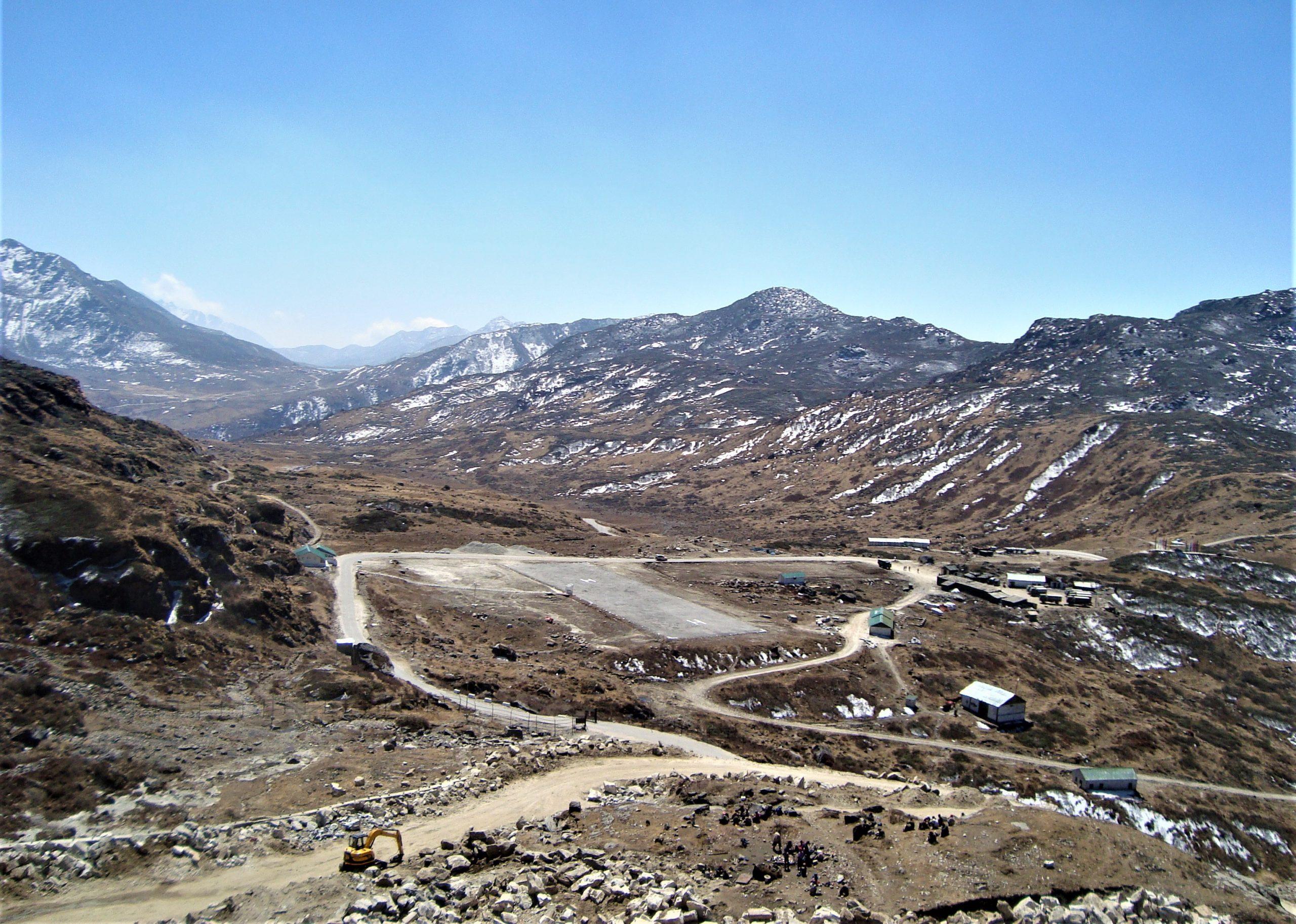 Winding road near Nathula Pass in Sikkim