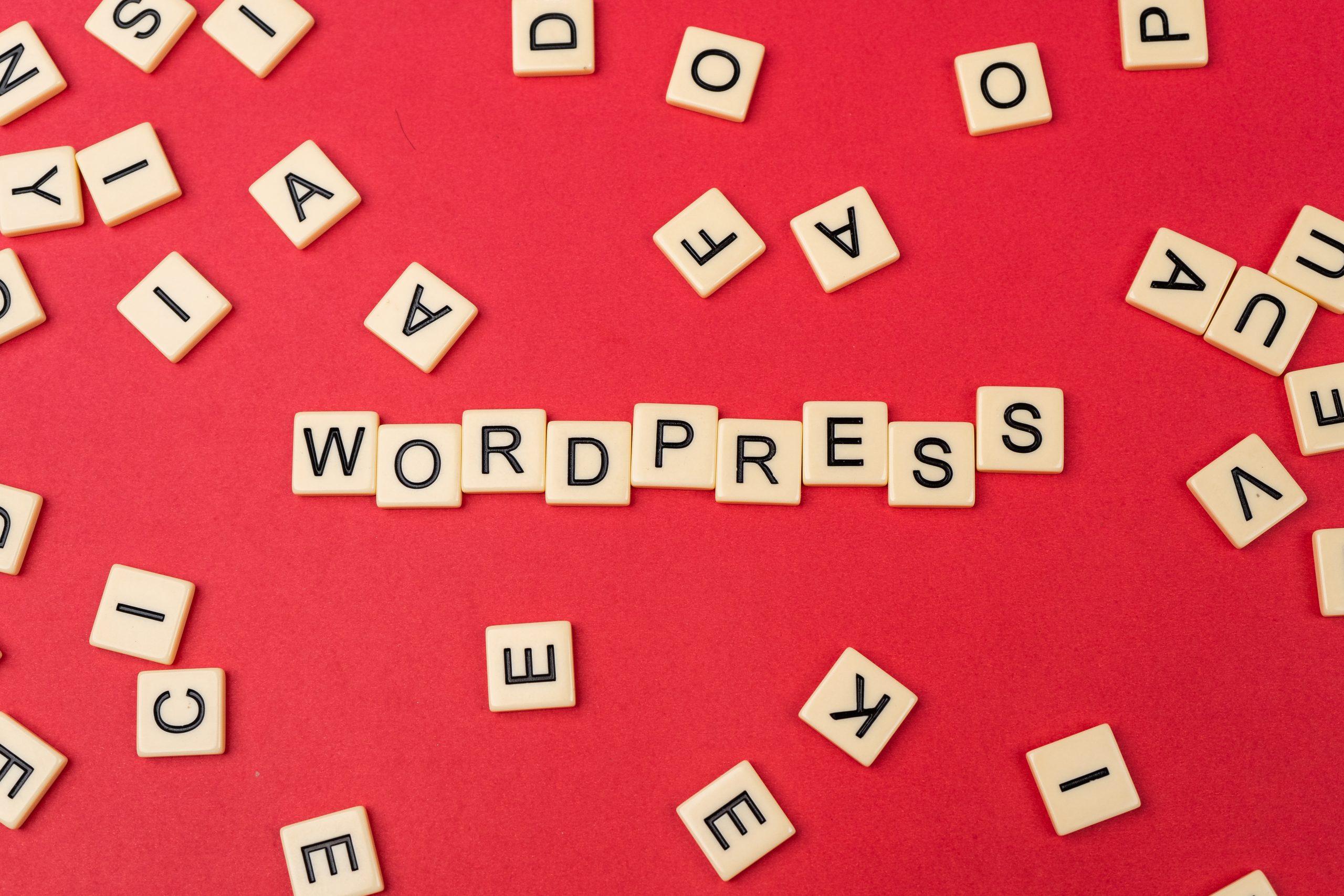WordPress written on scrabble
