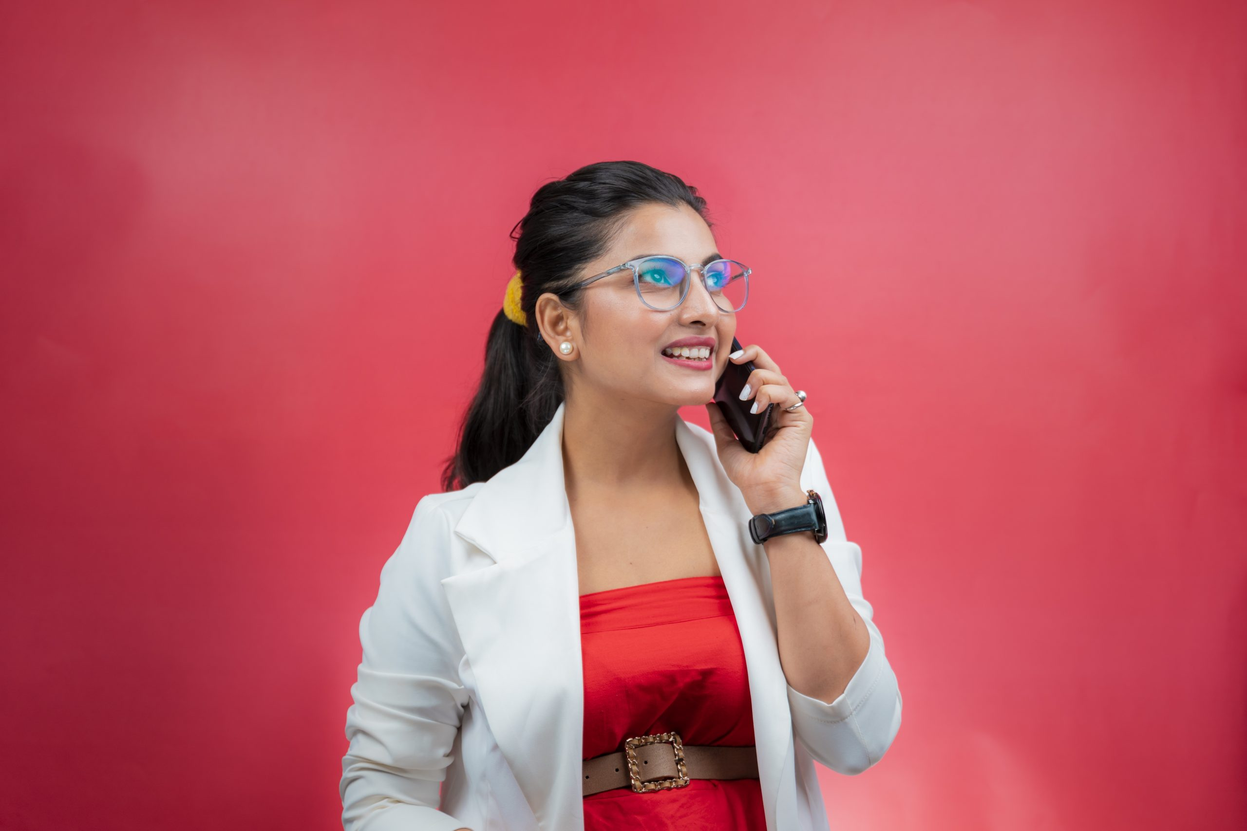 Working woman talking on phone