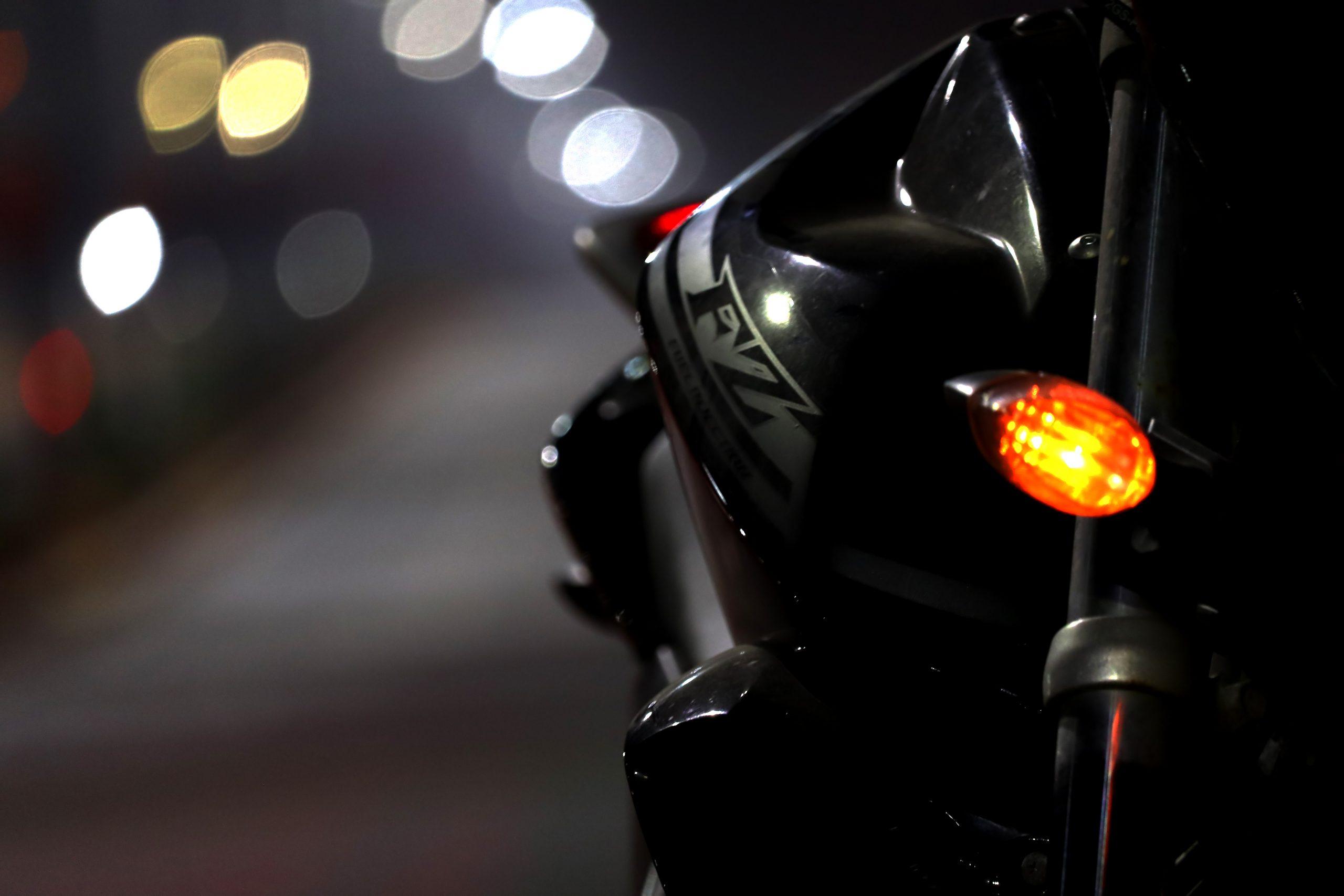 Yamaha Fz bike on bokeh background