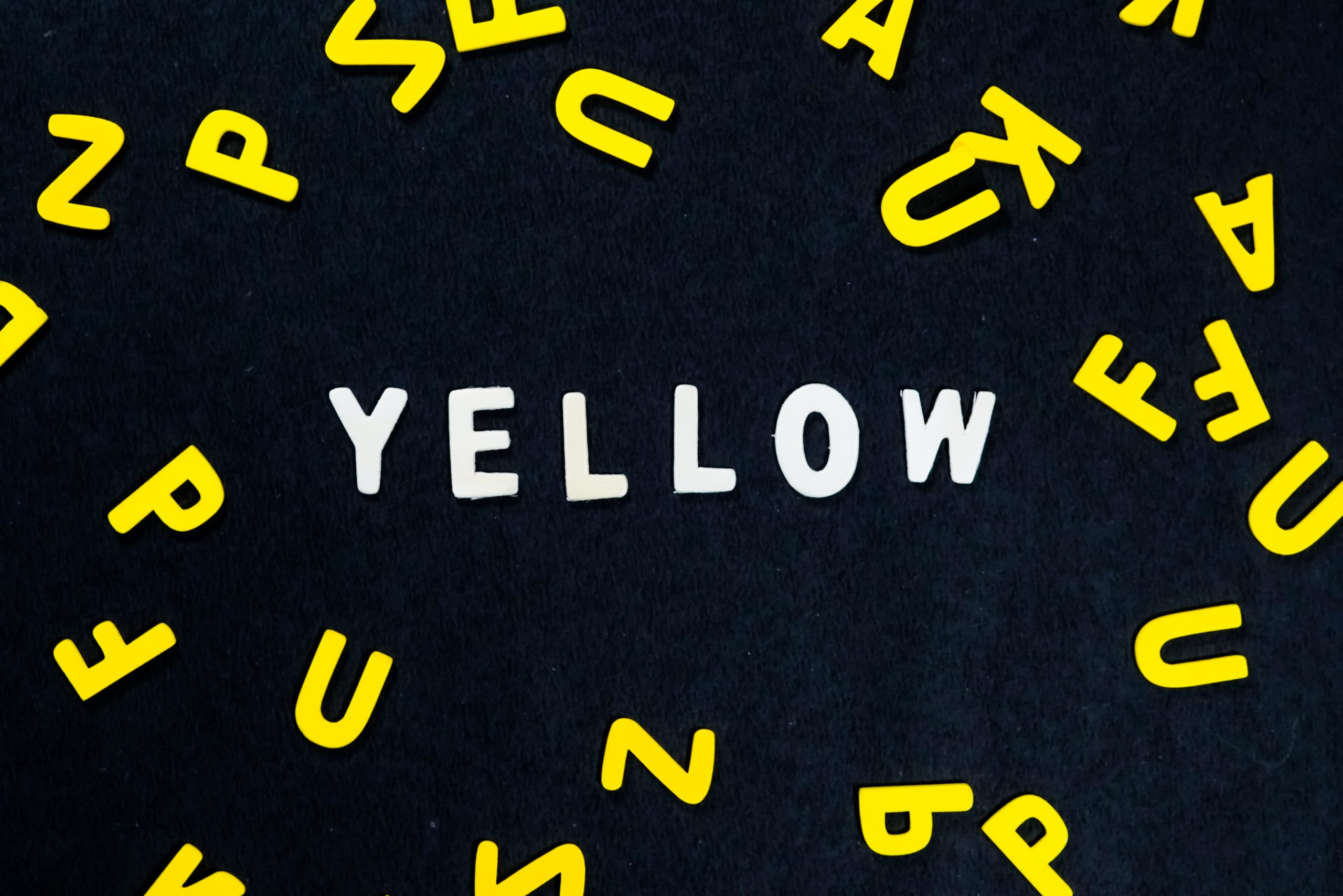 yellow spelt out