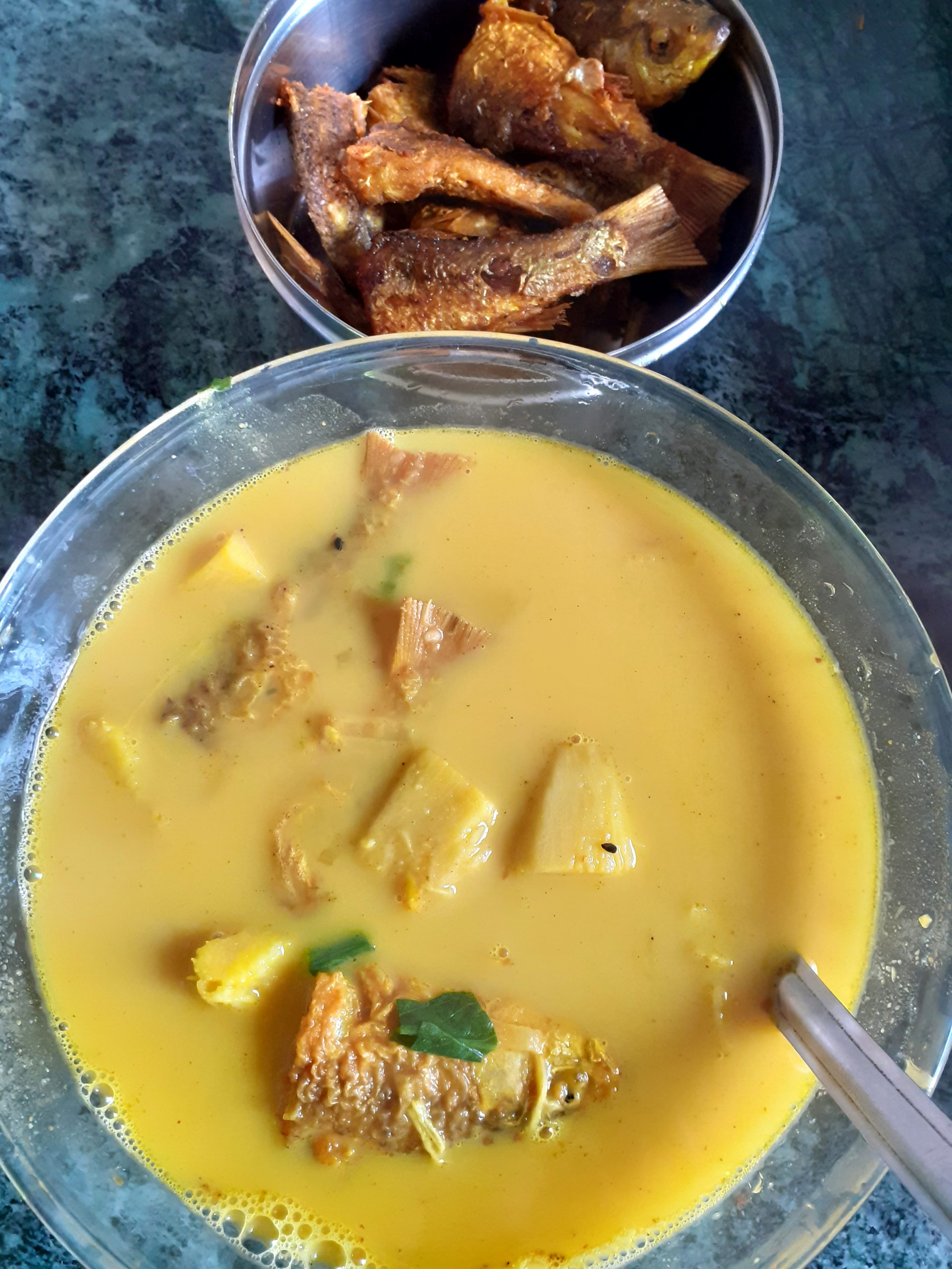 Yellow Curry and a Fried Fish